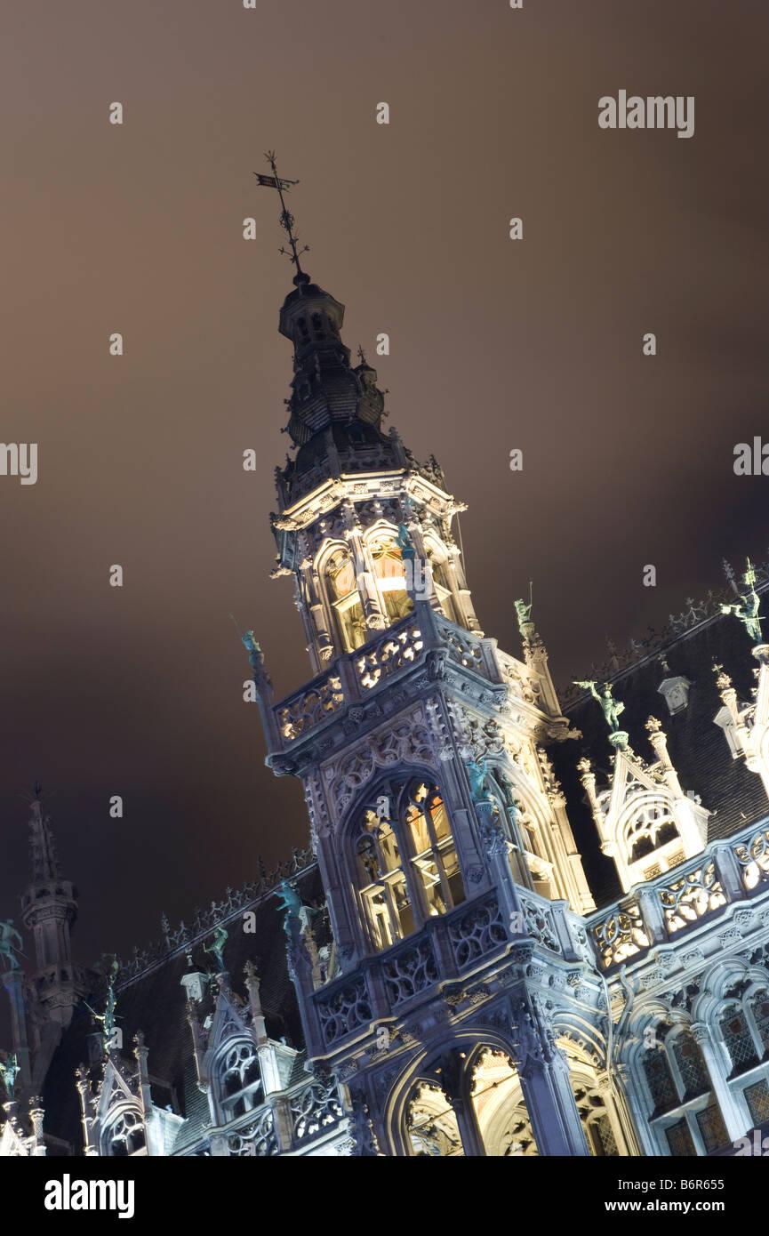 Christmas illumination Brussels Belgium December - Stock Image