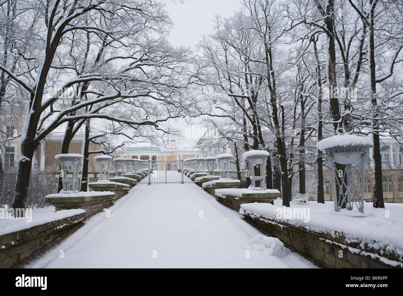 The Catherine Park, Tsarskoe Selo, Pushkin, Saint-Petersburg, Russia. Stock Photo