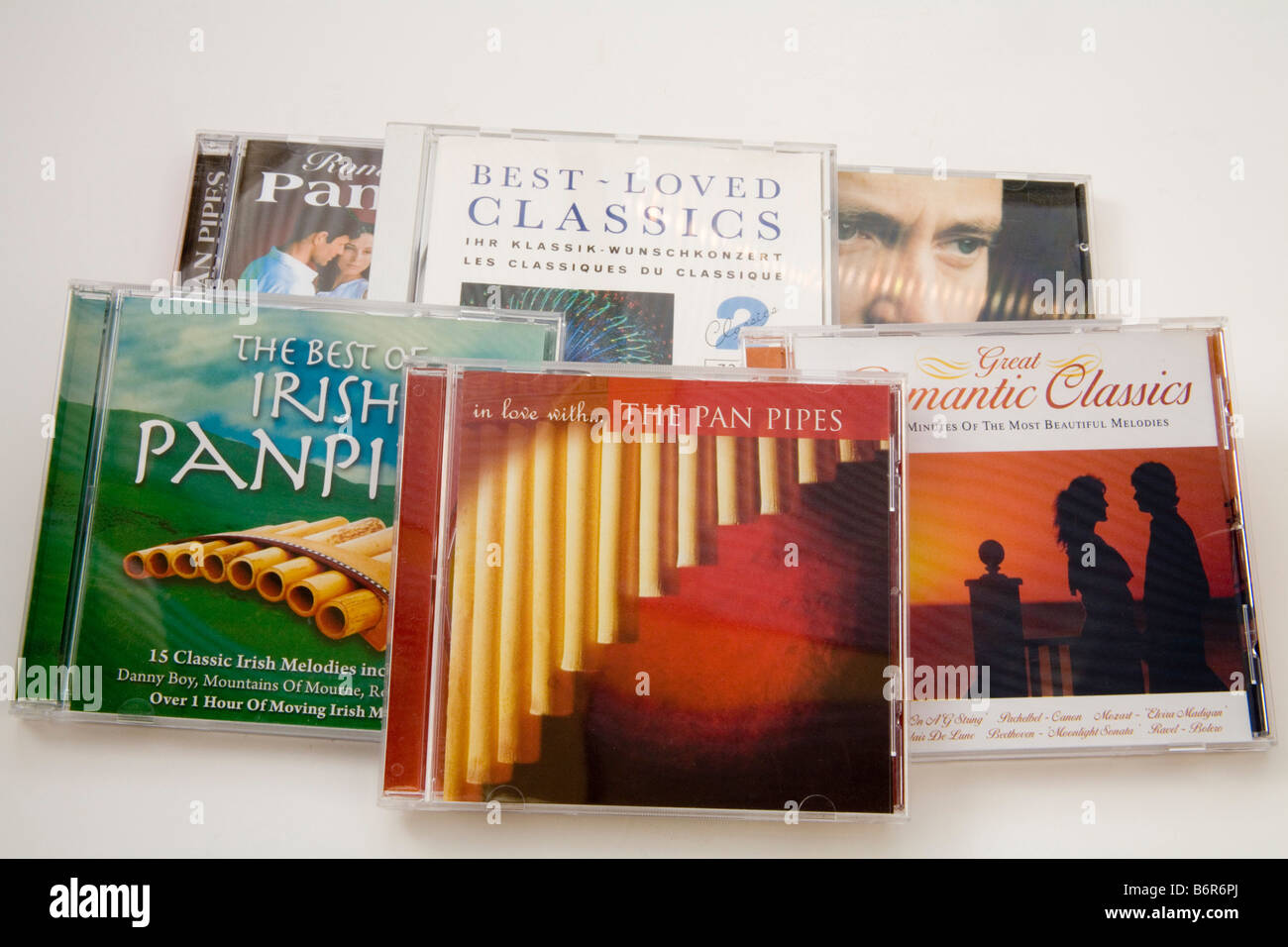 Still Life Close Up A selection of music CD' s - Stock Image