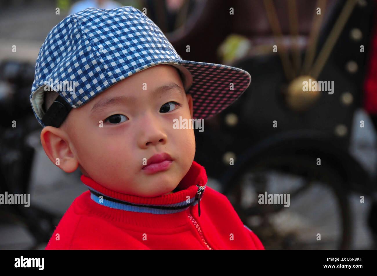 Chinese Child Beijing China - Stock Image