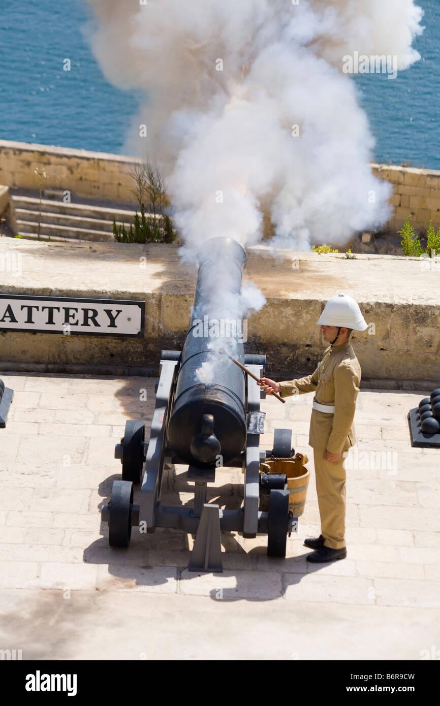 Cannon Canon Fire Gun Malta Travel Malta Holiday Stock
