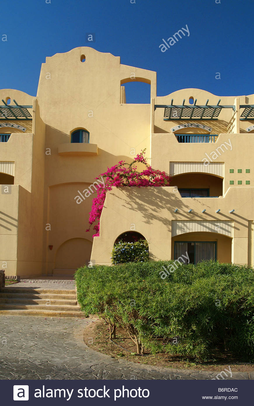 Marriott beach hotel at Taba Heights - Red Sea - Egypt - Stock Image