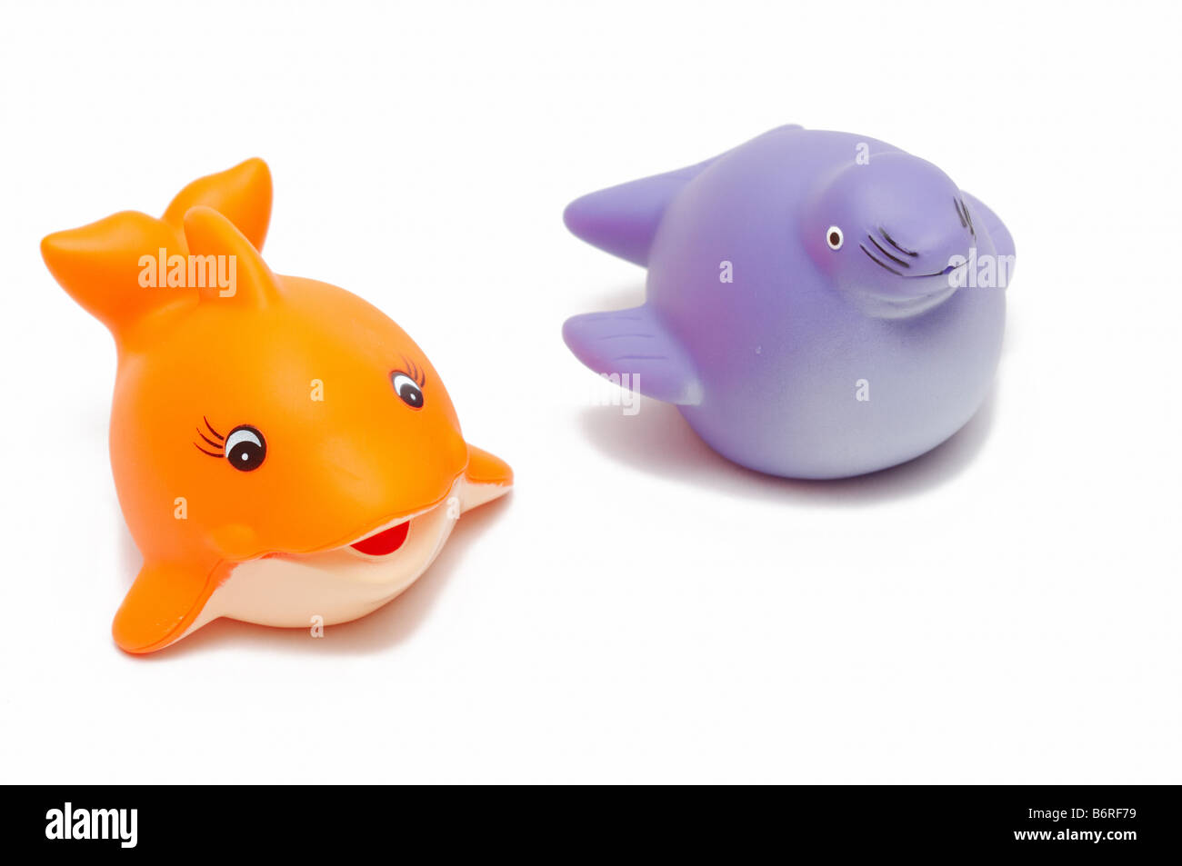 fish and seal toys Stock Photo