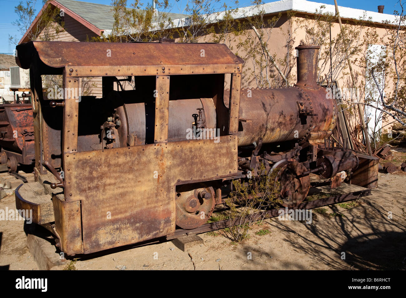 5 ton steam locomotive used at Yellow Aster Mine in the living ghost
