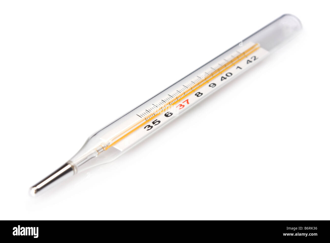 Traditional thermometer to measure body temperature - Stock Image