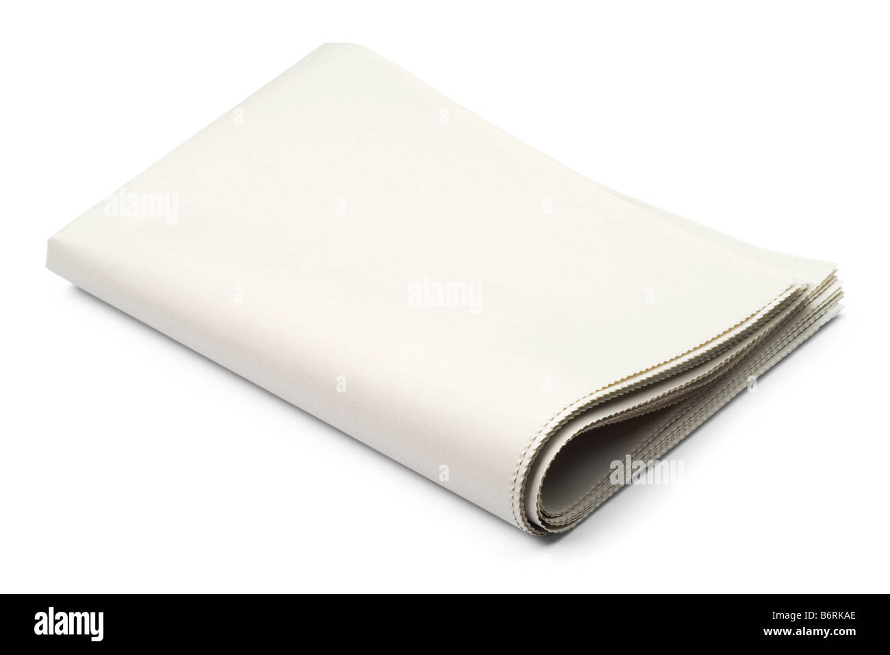 blank newspaper on white with clipping path stock photo: 21418390