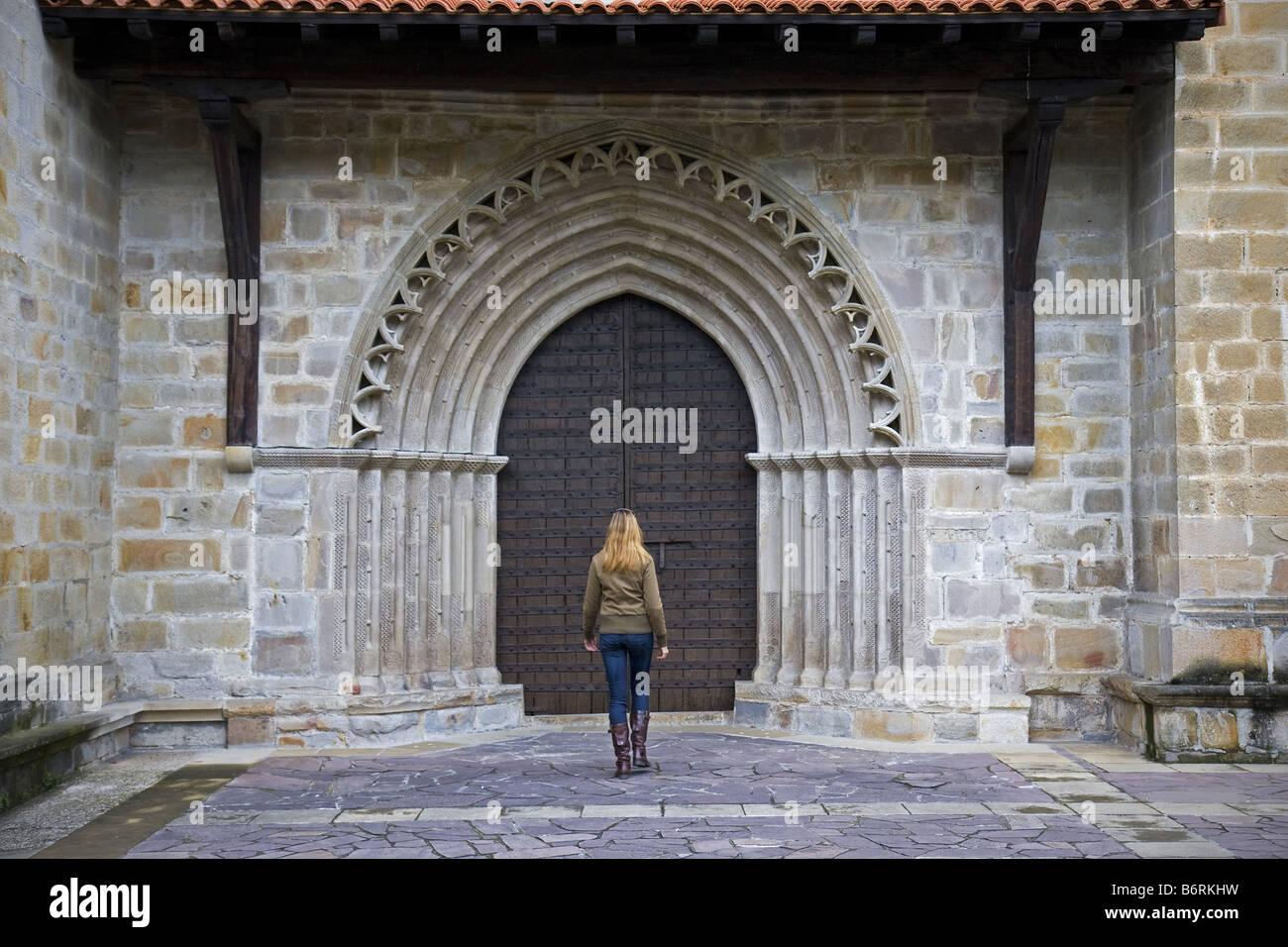 Saint Miguel de Idiazabal church Guipuzkoa Euskadi Spain - Stock Image