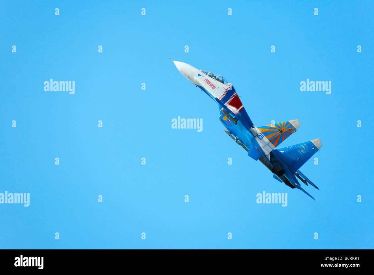 Su-27 'Flanker' jet plane - Stock Image