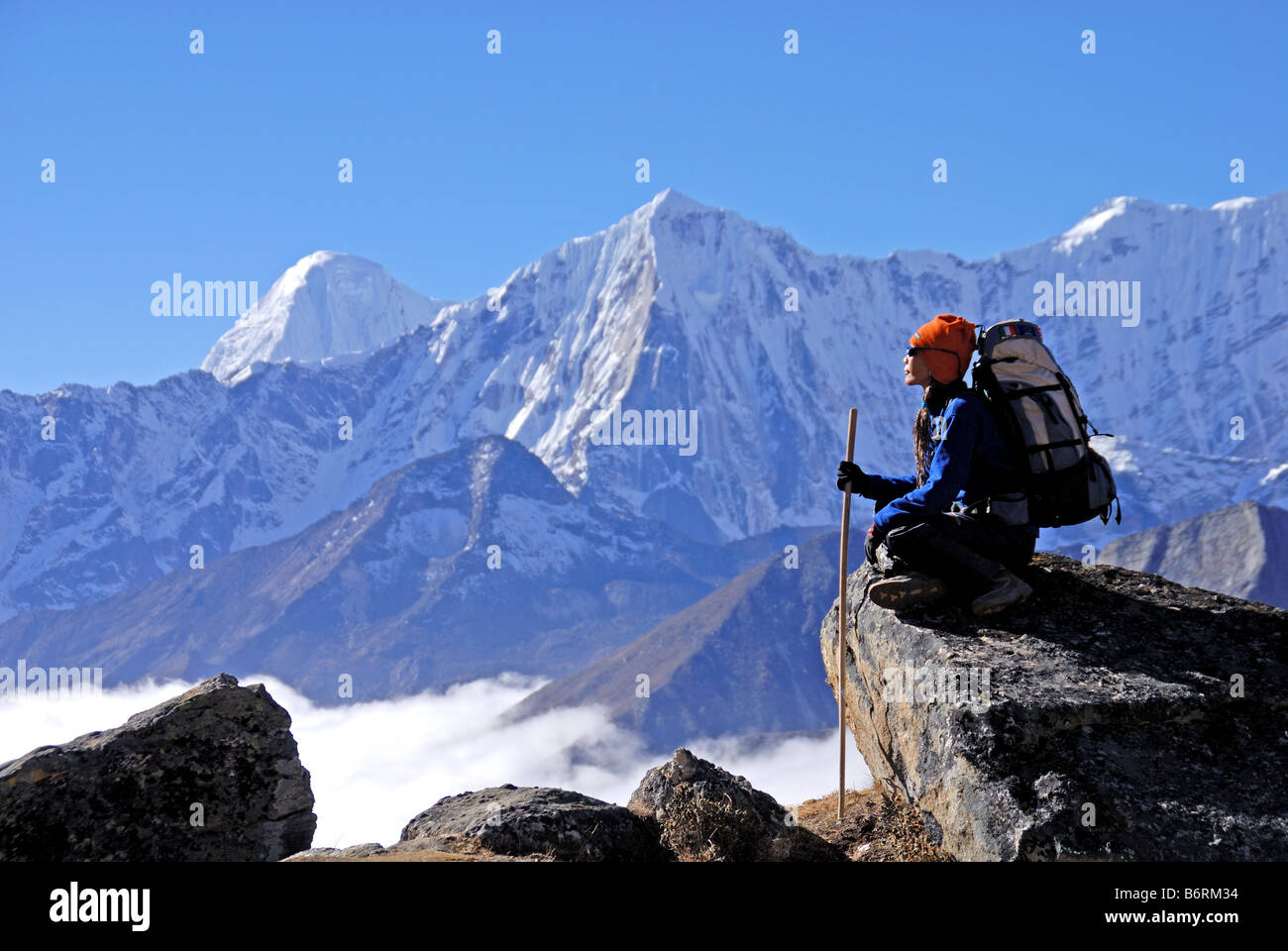 Trekking in Nepal - Stock Image
