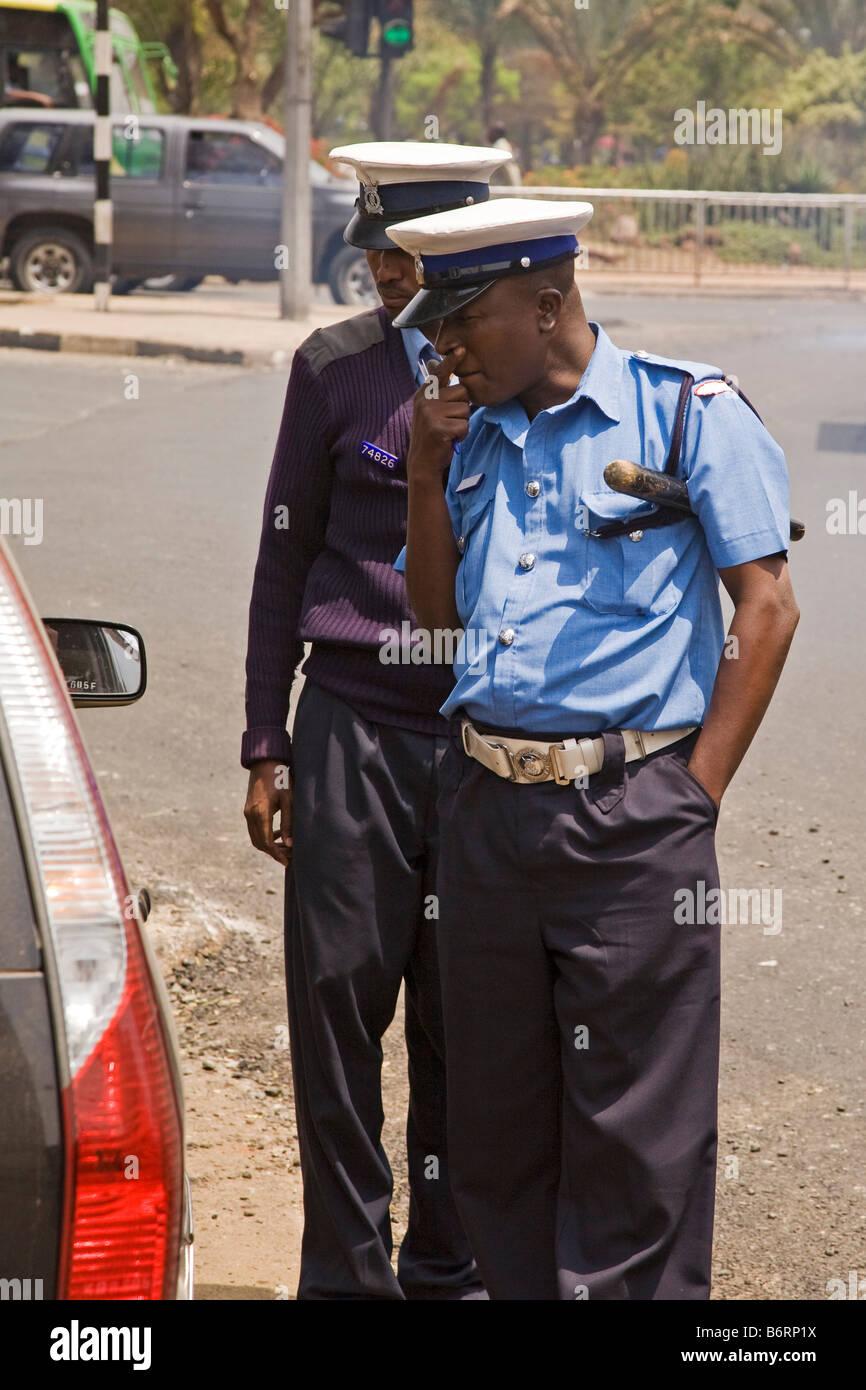 Police Nairobi Kenya Africa - Stock Image