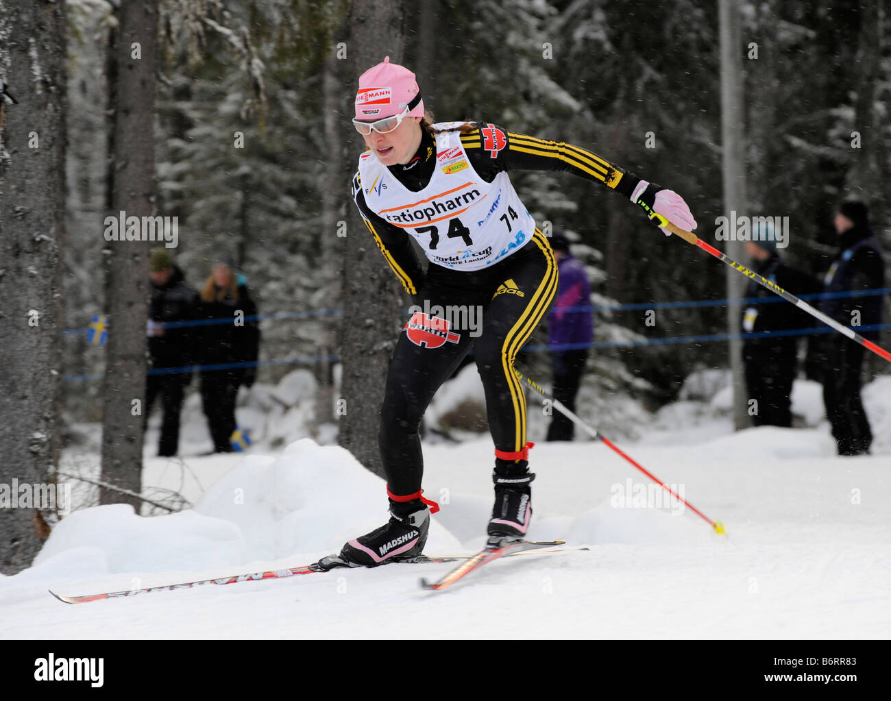 Evi Sachenbacher Stehle, Germany.  The world cup competitions in Gällivare, Sweden 2008 11 22 - Stock Image