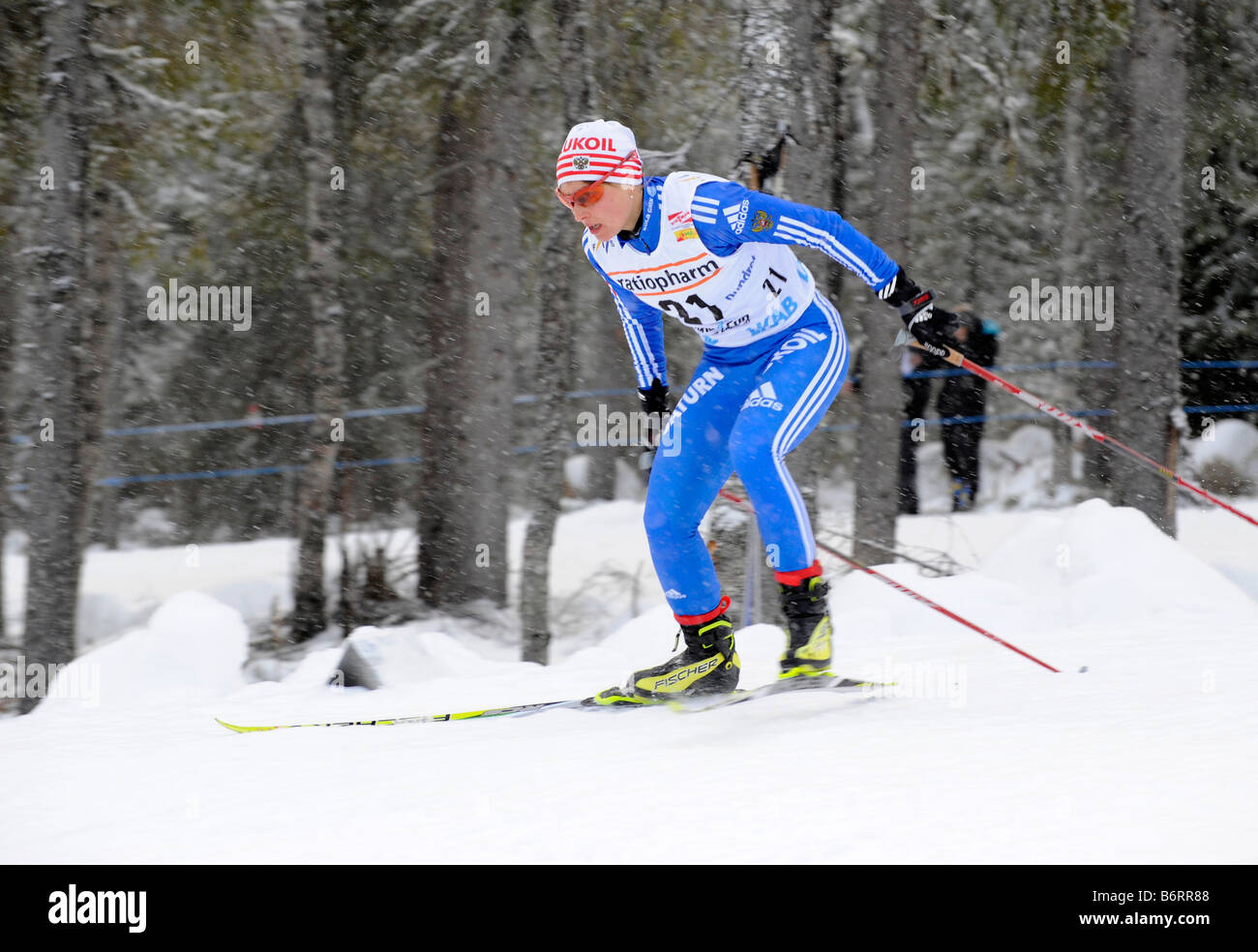 Marina Chernousova, Russia. The world cup competitions in Gällivare, Sweden 2008 11 22 - Stock Image
