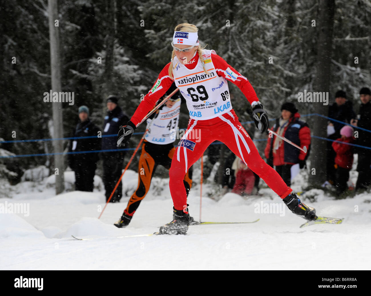 Therese Johaug Norge. The world cup competitions in Gällivare, Sweden 2008 11 22 - Stock Image