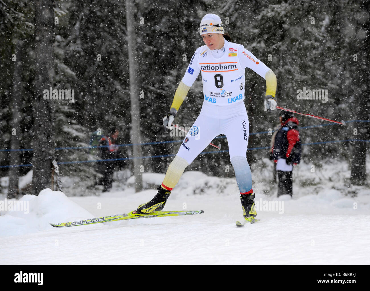 Britta Norgren, Sweden, The world cup competitions in Gällivare, Sweden 2008 11 22 - Stock Image