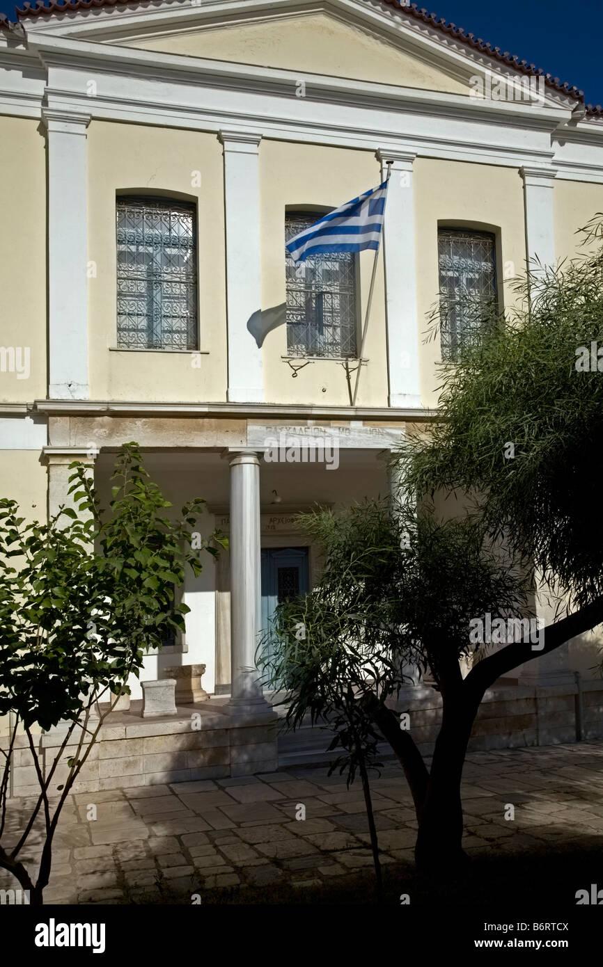 Archaelogical Museum Vathy Samos Greece - Stock Image