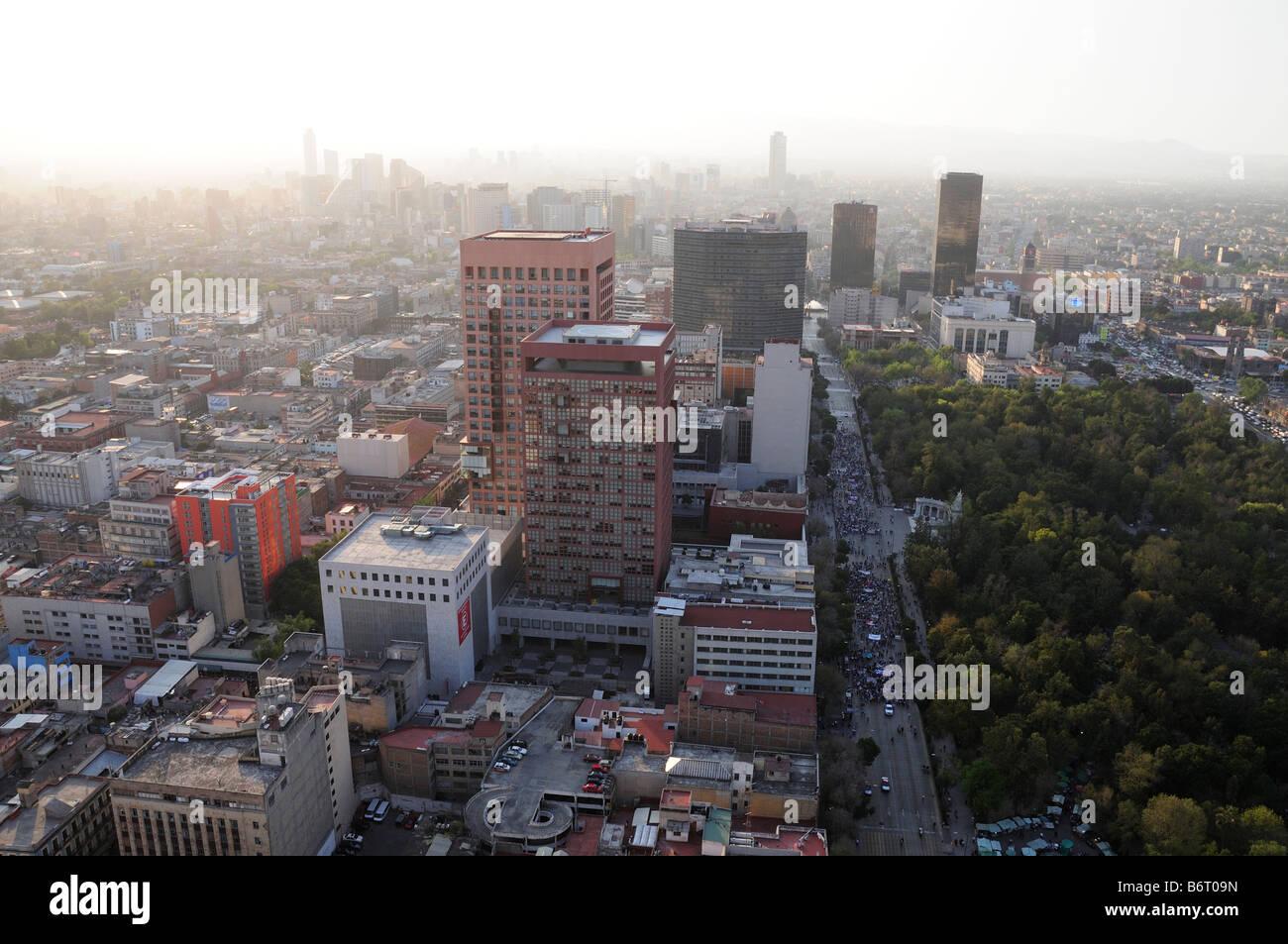 Skyline of Mexico City - Stock Image