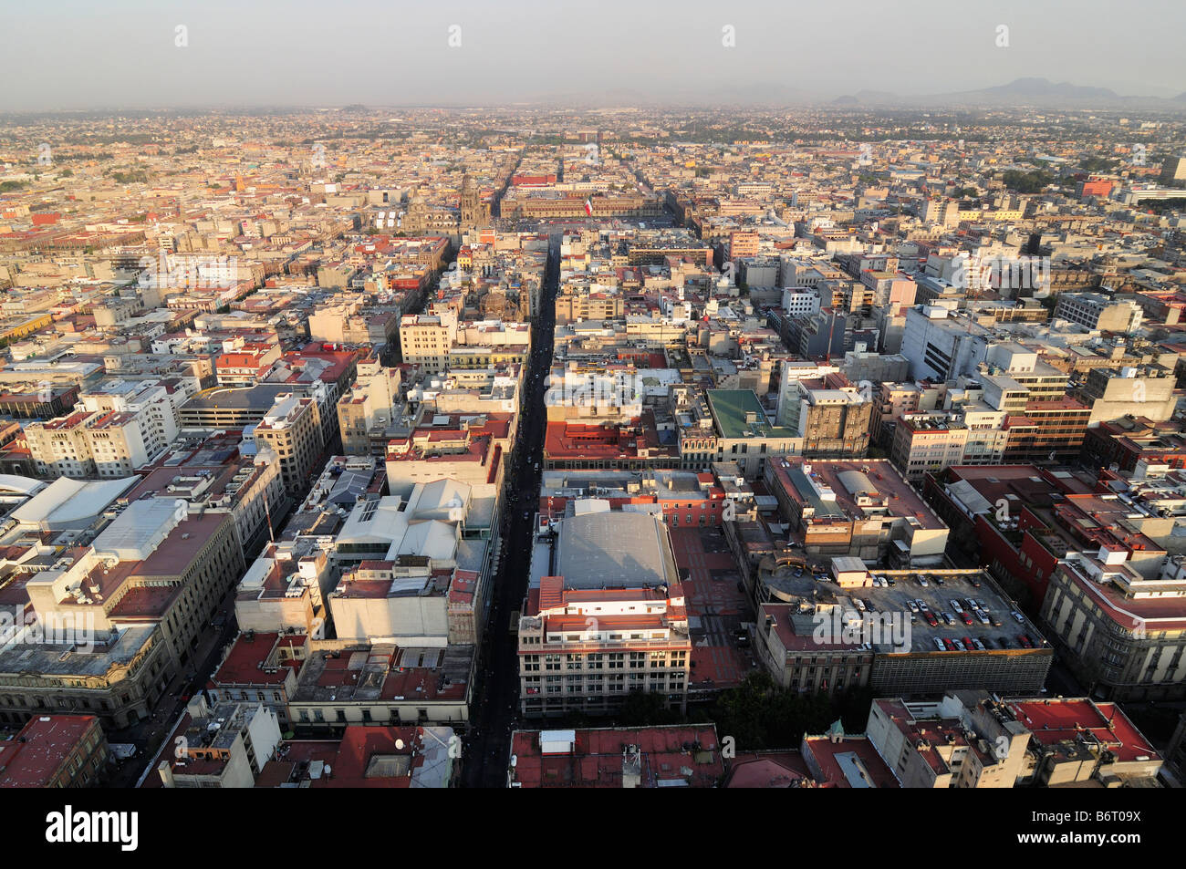 Skyline of Mexico City, view to the west - Stock Image