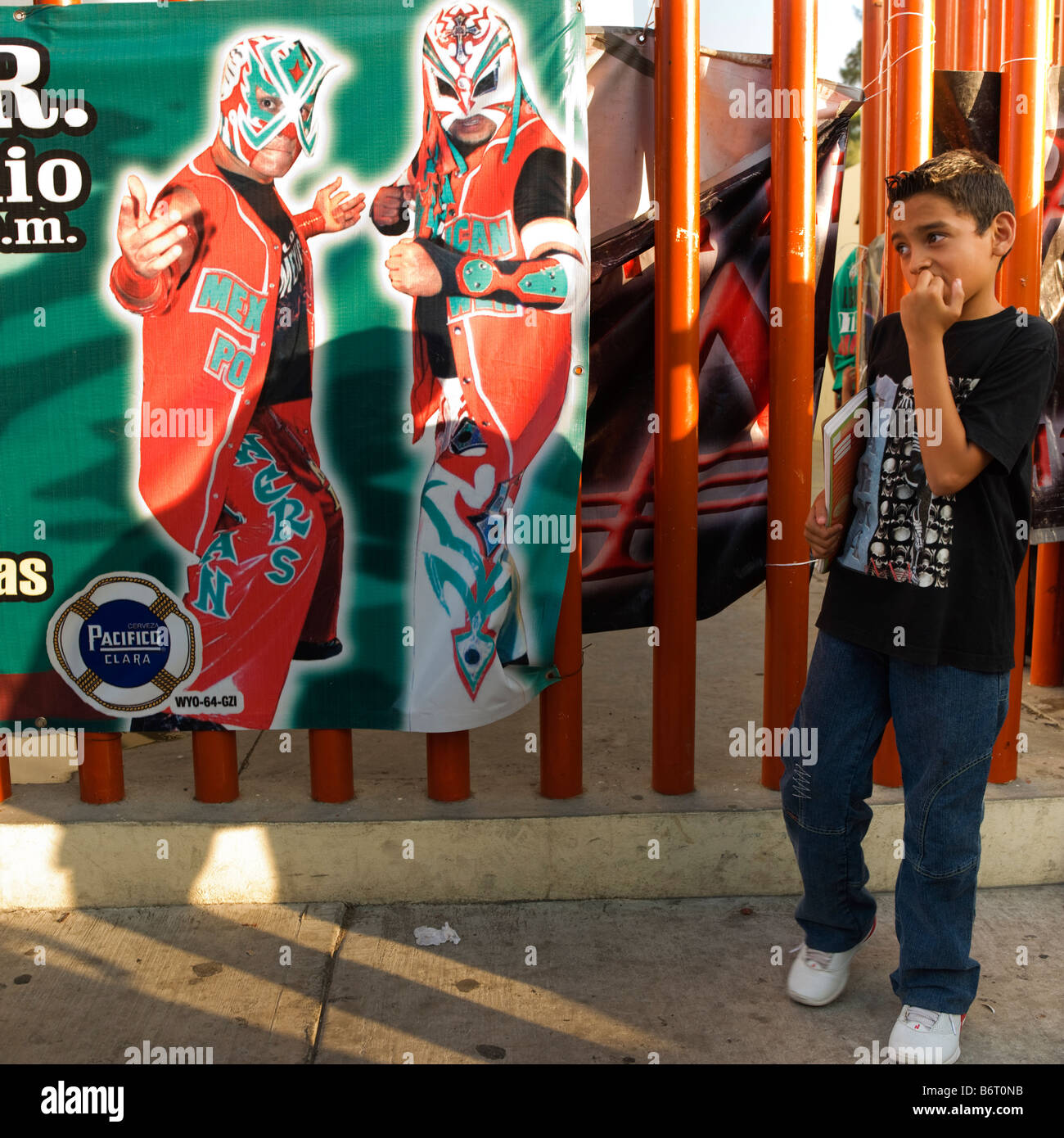 Urban Youth Mexican Mexico Young Boy Lucha Libre Poster