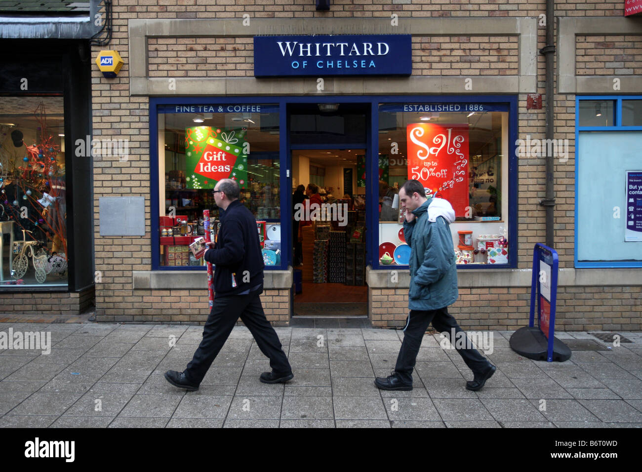 WHITTARD OF CHELSEA COFFEE AND TEA SHOP - Stock Image