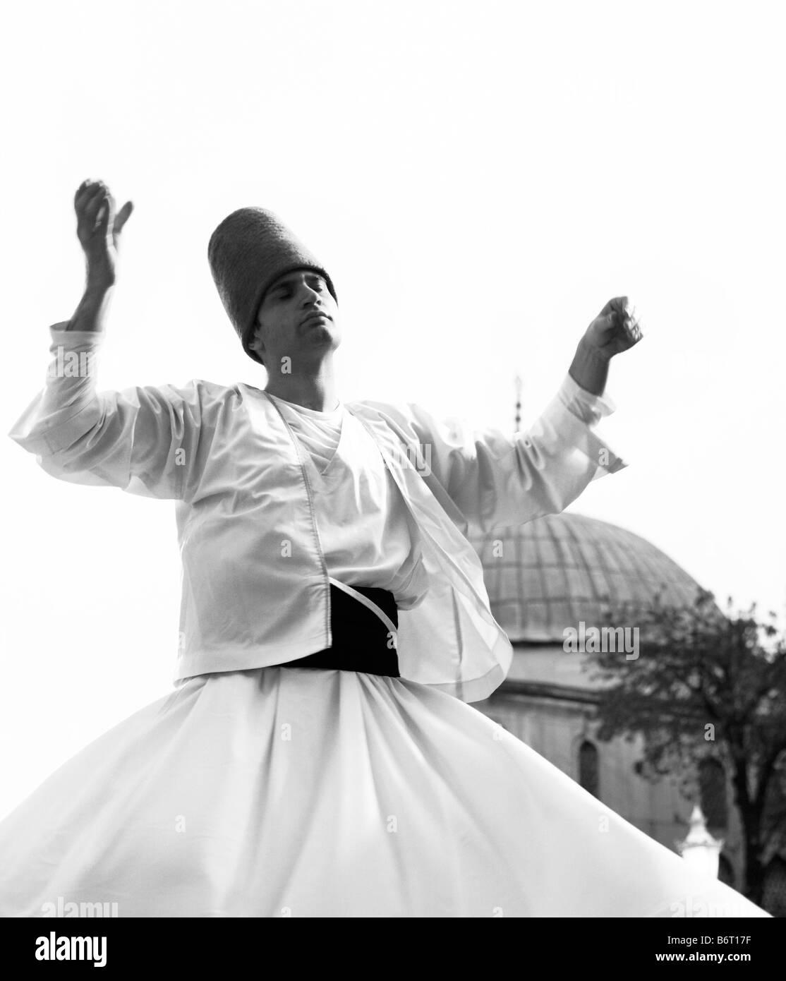 dervish dancer istanbul - Stock Image