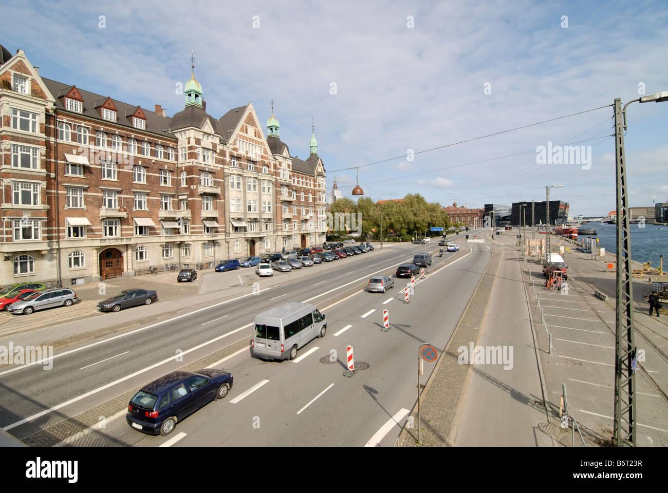 View on the Christians Brygge Copenhagen Denmark - Stock Image