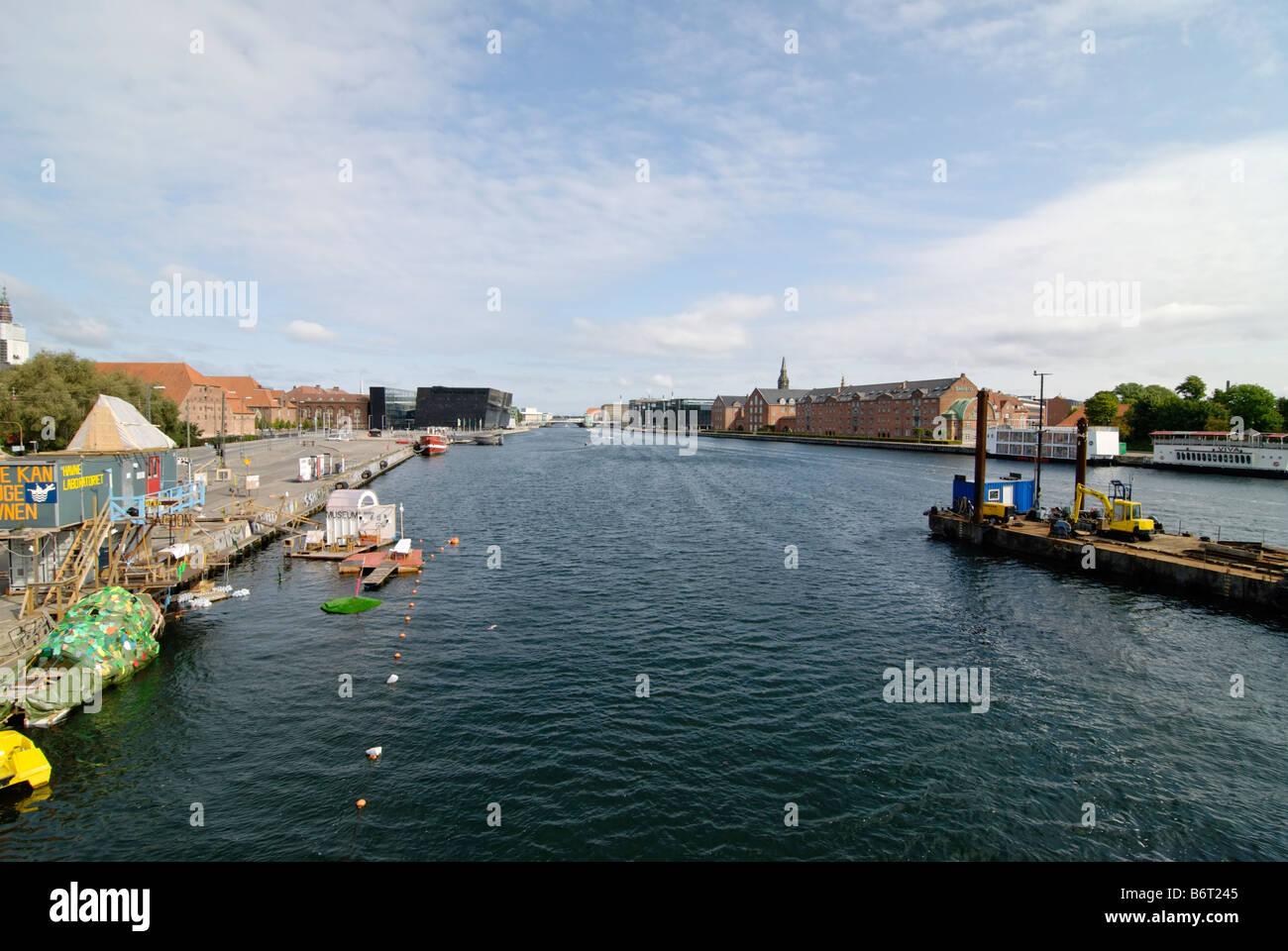 View on the Kobenhavns Havn Copenhagen Denmark - Stock Image