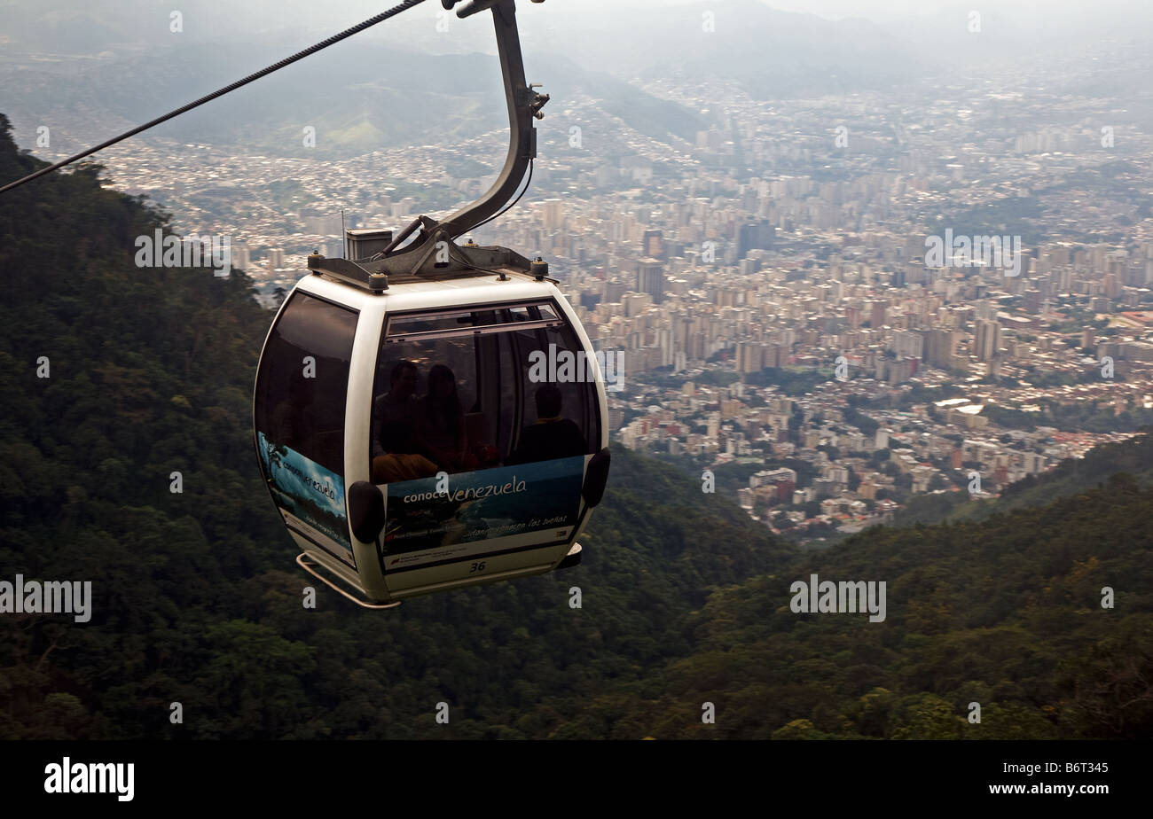 Mt Avila overlooking the Latin American city of Caracas - Stock Image