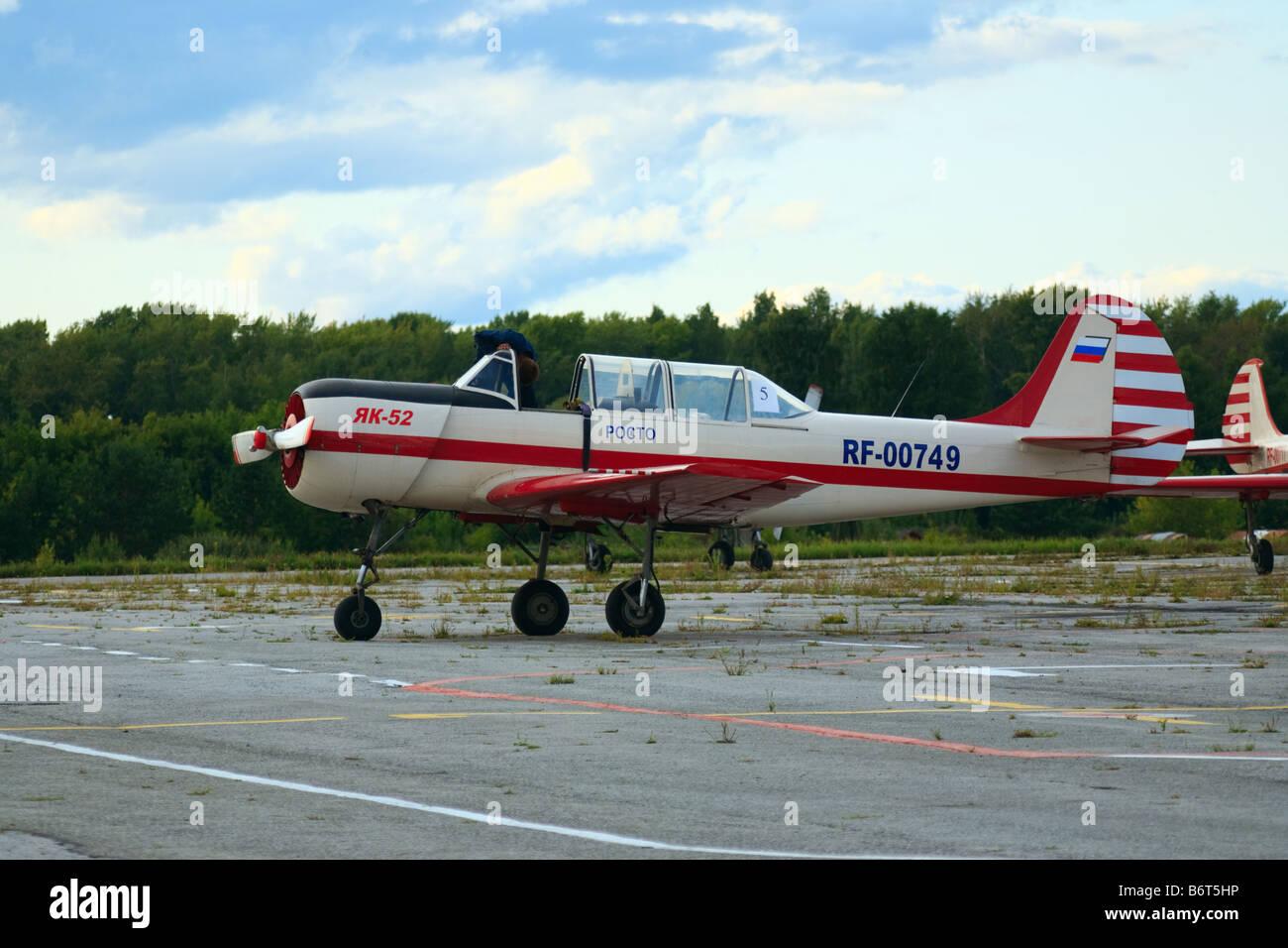 Yak-52 aerobatic plane - Stock Image