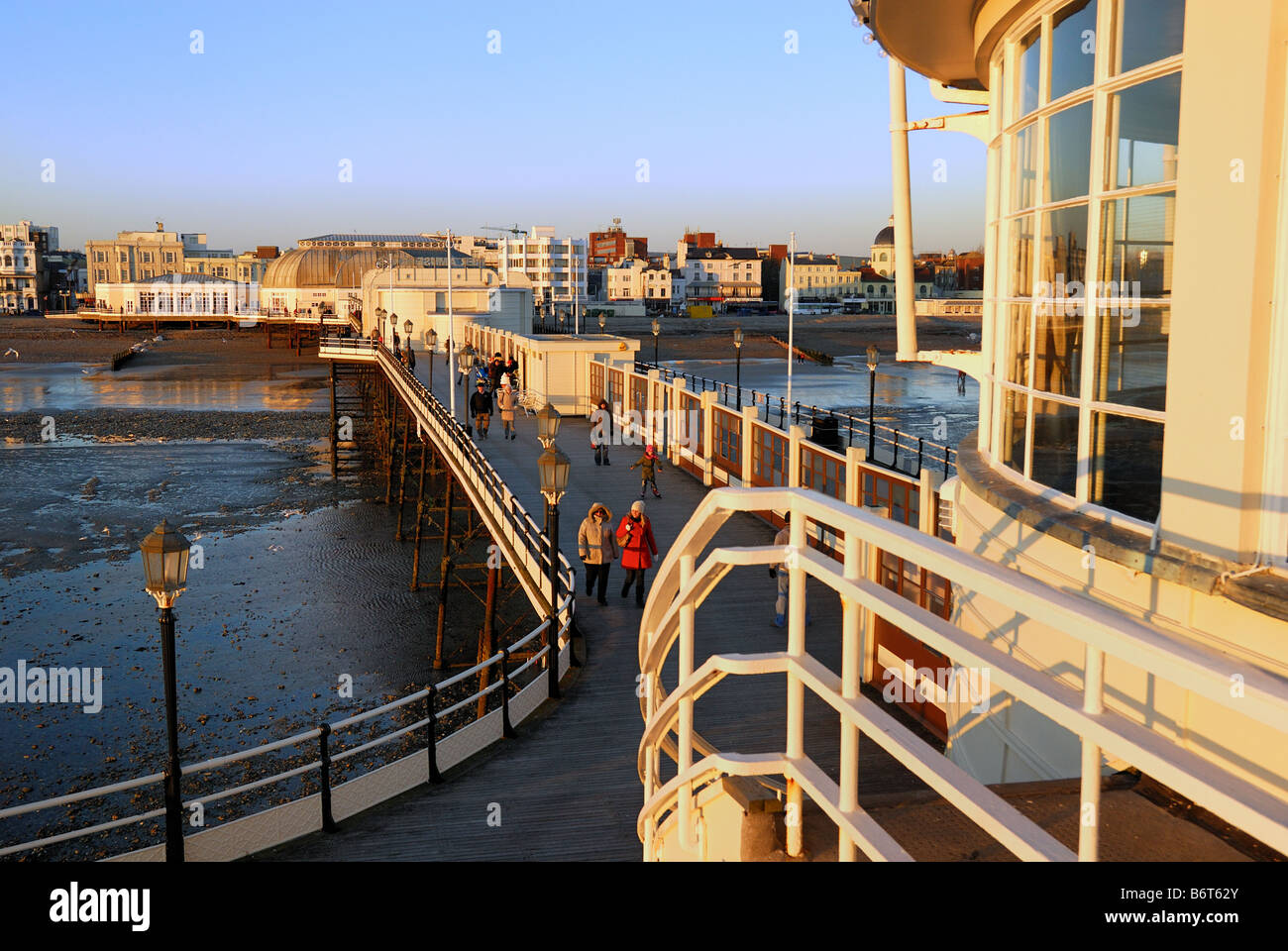 Worthing pier and seafront,Sussex - Stock Image