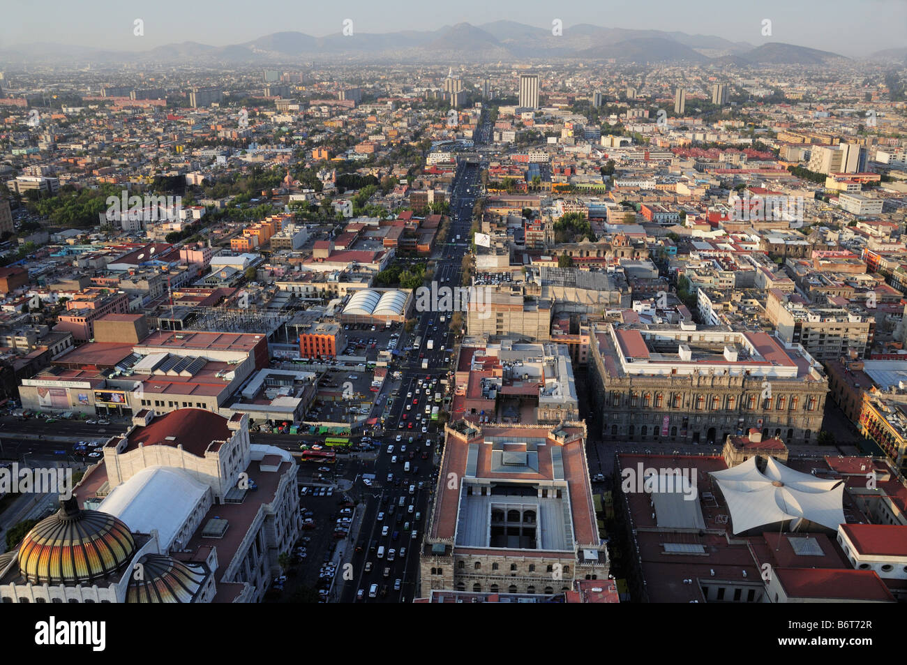 Skyline of Mexico City, view to the north - Stock Image