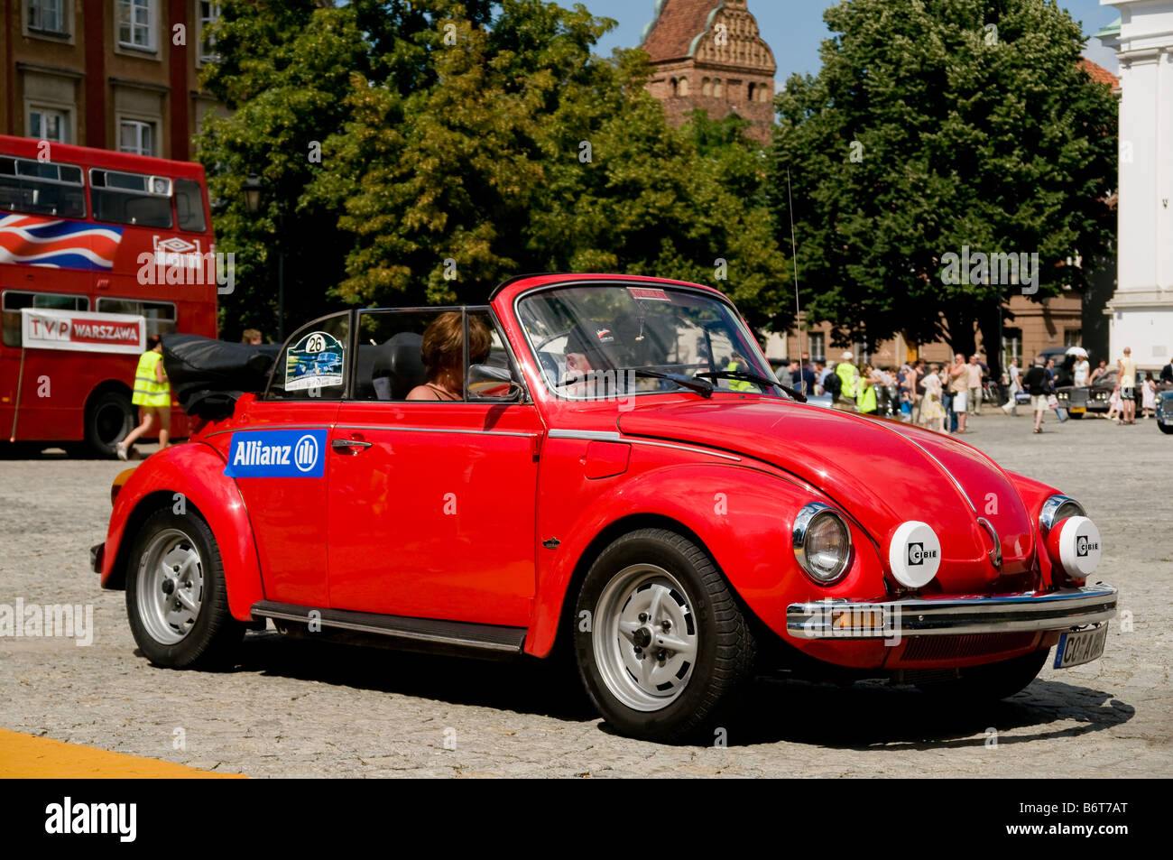 1978 Volkswagen Beetle 1303 LS Cabrio on Cars Competition during XXXIth Warsaw Antique Car Rally. July 7, 2008 in - Stock Image