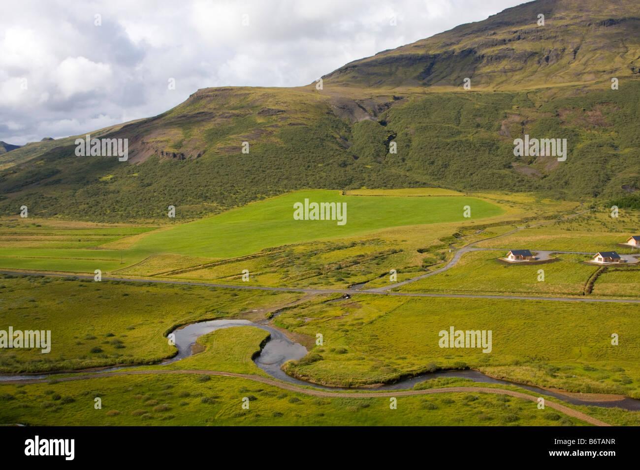 Landscape at Geysir Iceland - Stock Image
