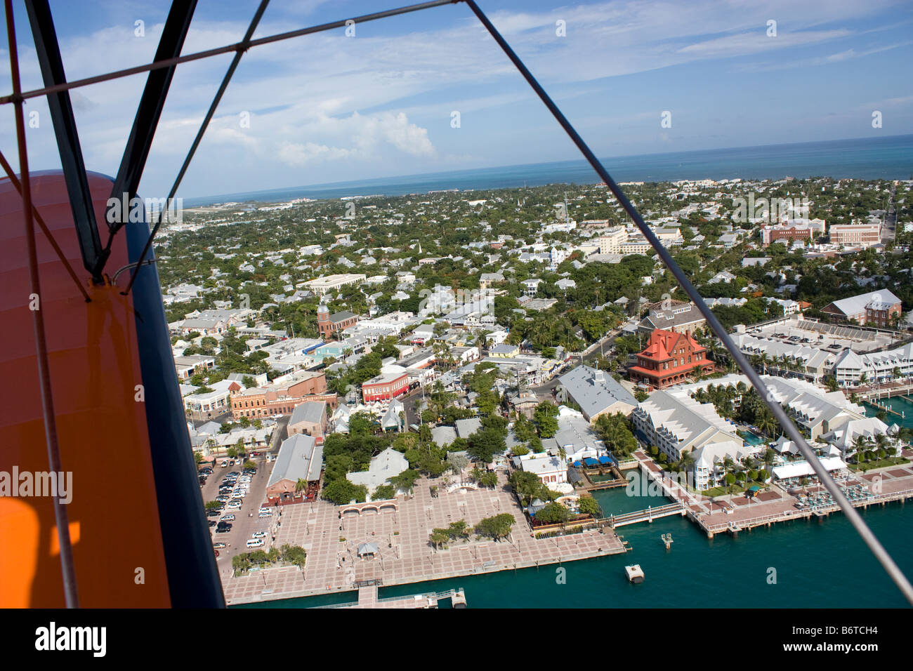 Aerial view of Mallory Square at Key West Florida - Stock Image