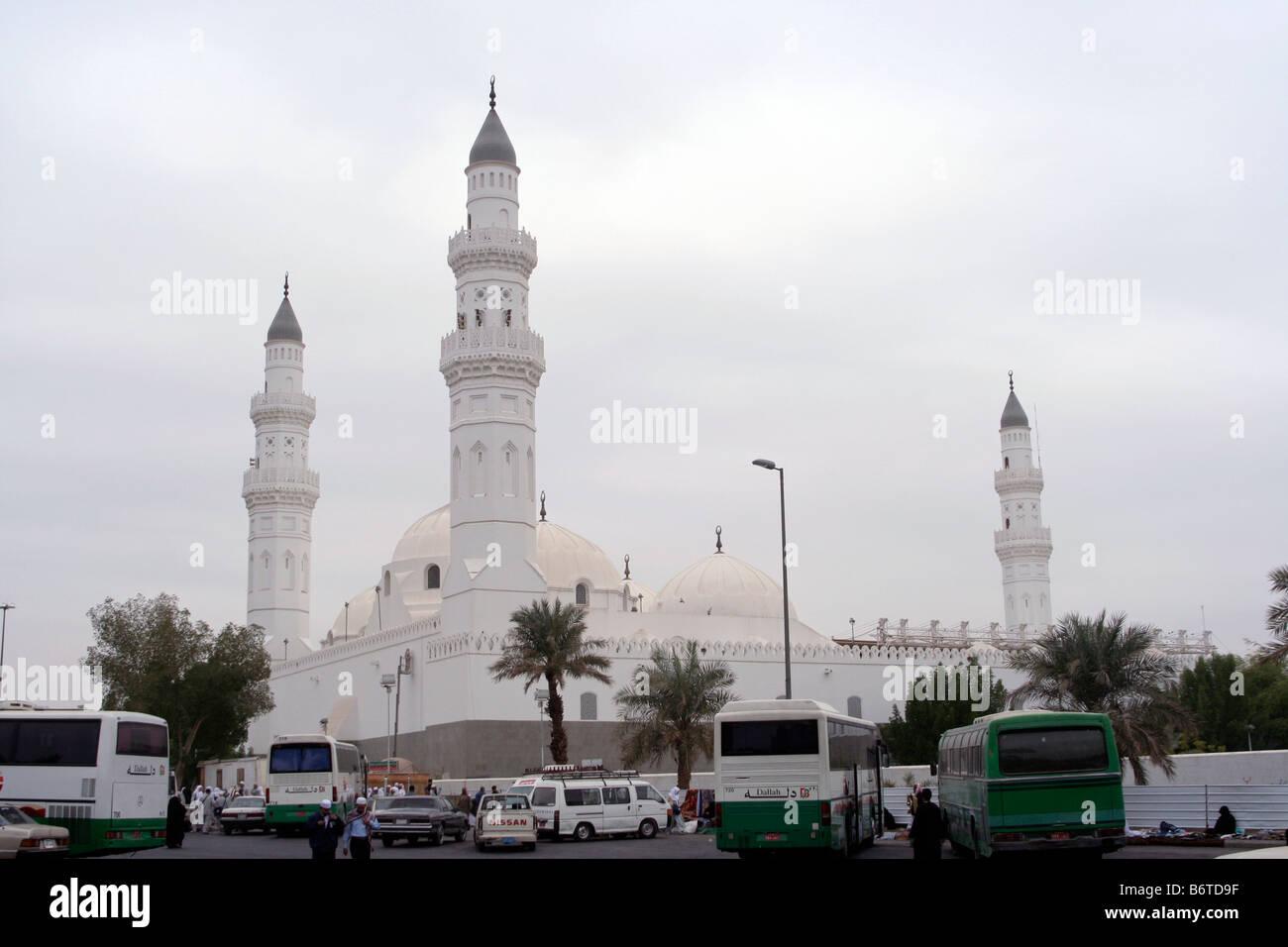 Masjid Quba - Islam's first mosque near Medina in Saudi Arabia. - Stock Image