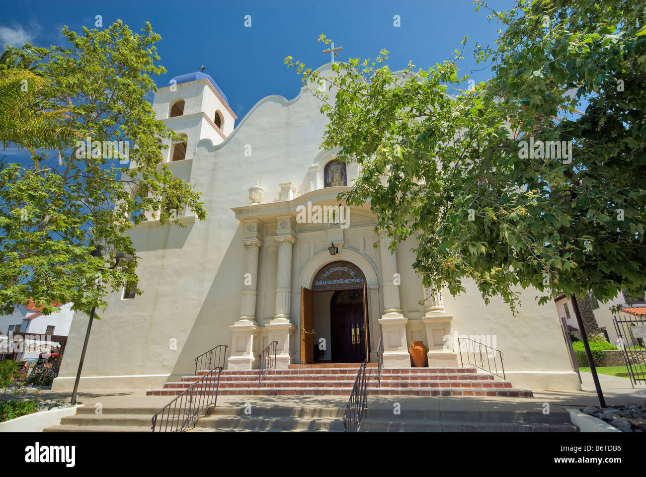 Immaculate Conception Church at Old Town San Diego California USA - Stock Image