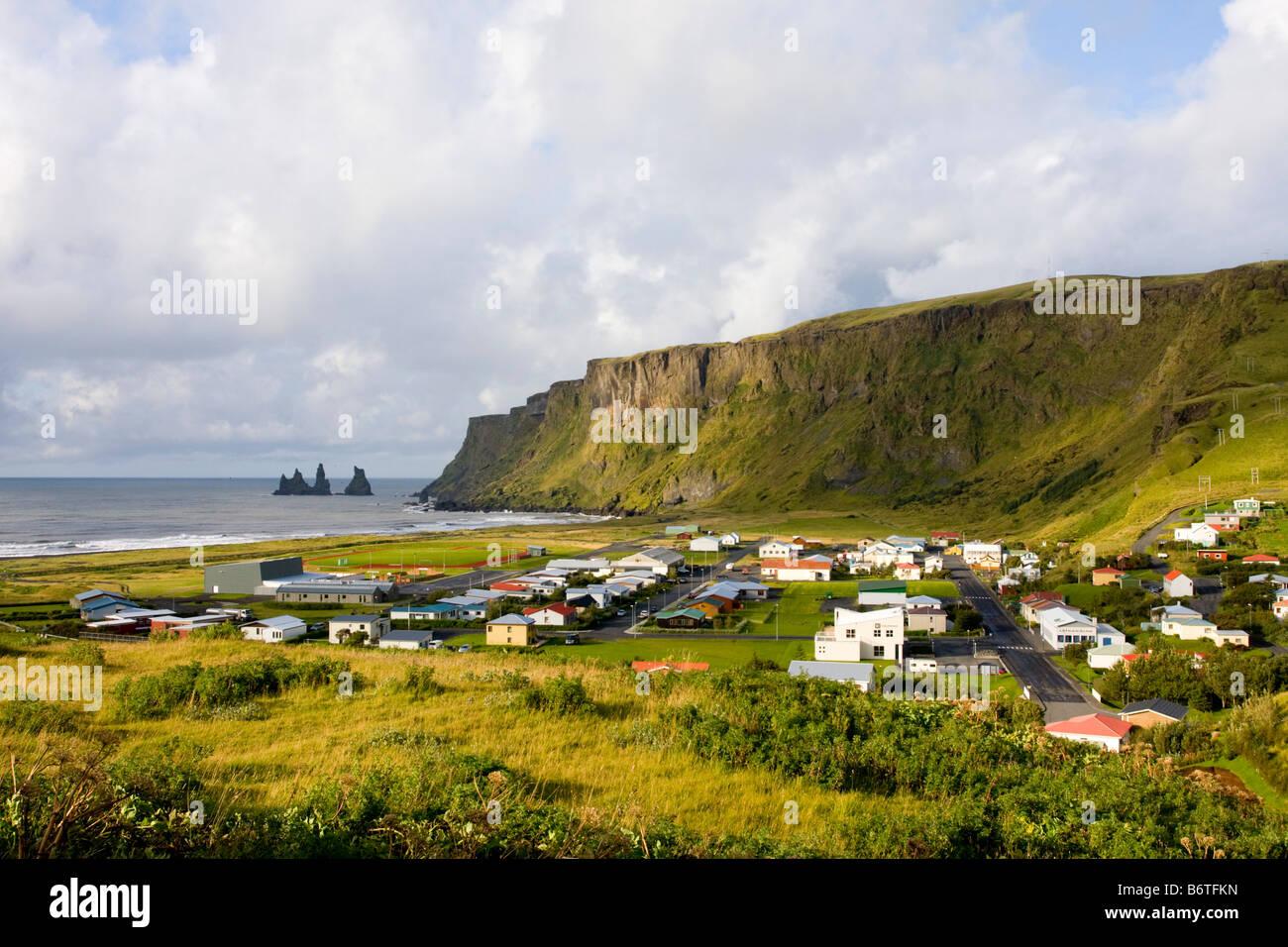 Vik village Iceland - Stock Image