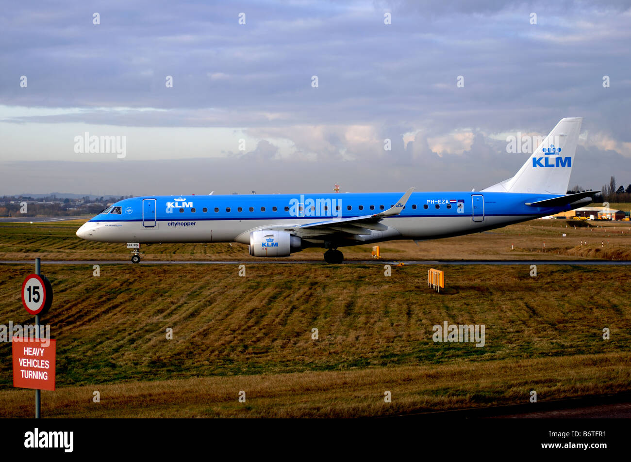 KLM cityhopper Embraer 190 aircraft at Birmingham International Airport UK - Stock Image