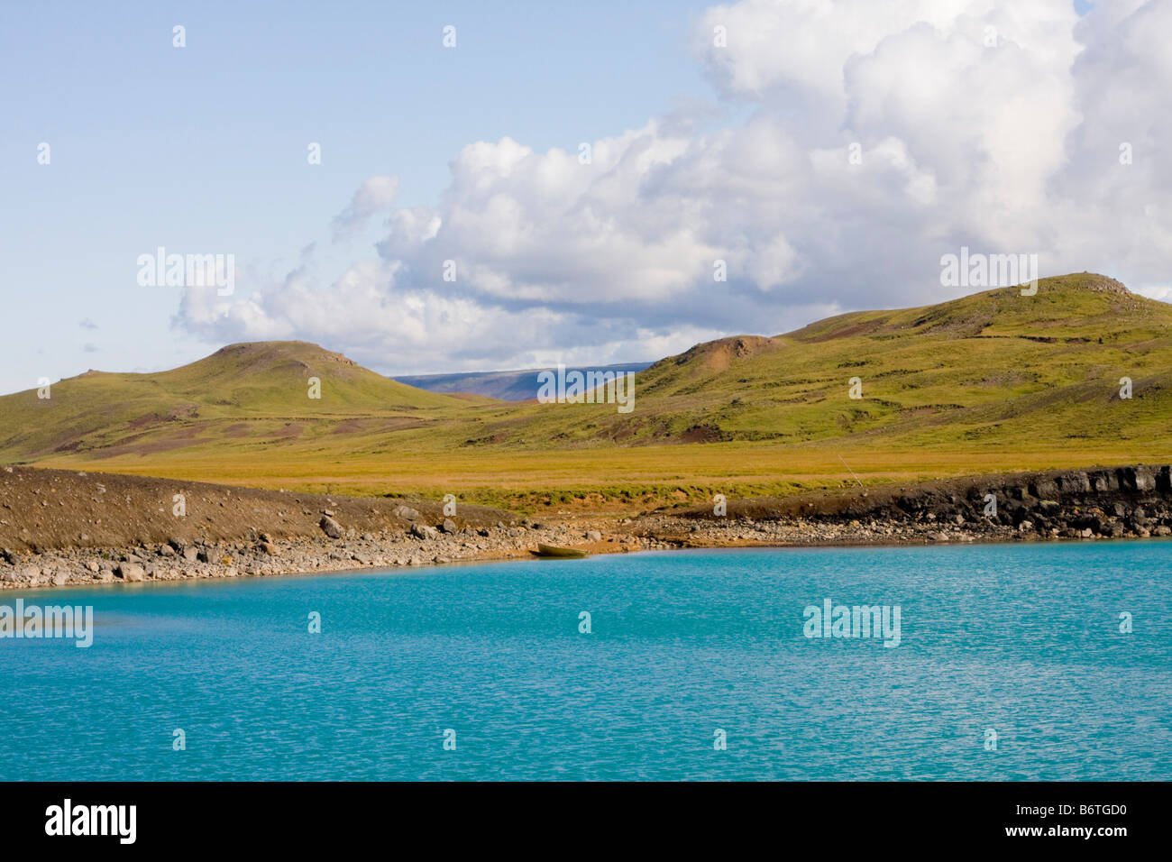 Greanavatn volcanic crater lake Iceland - Stock Image