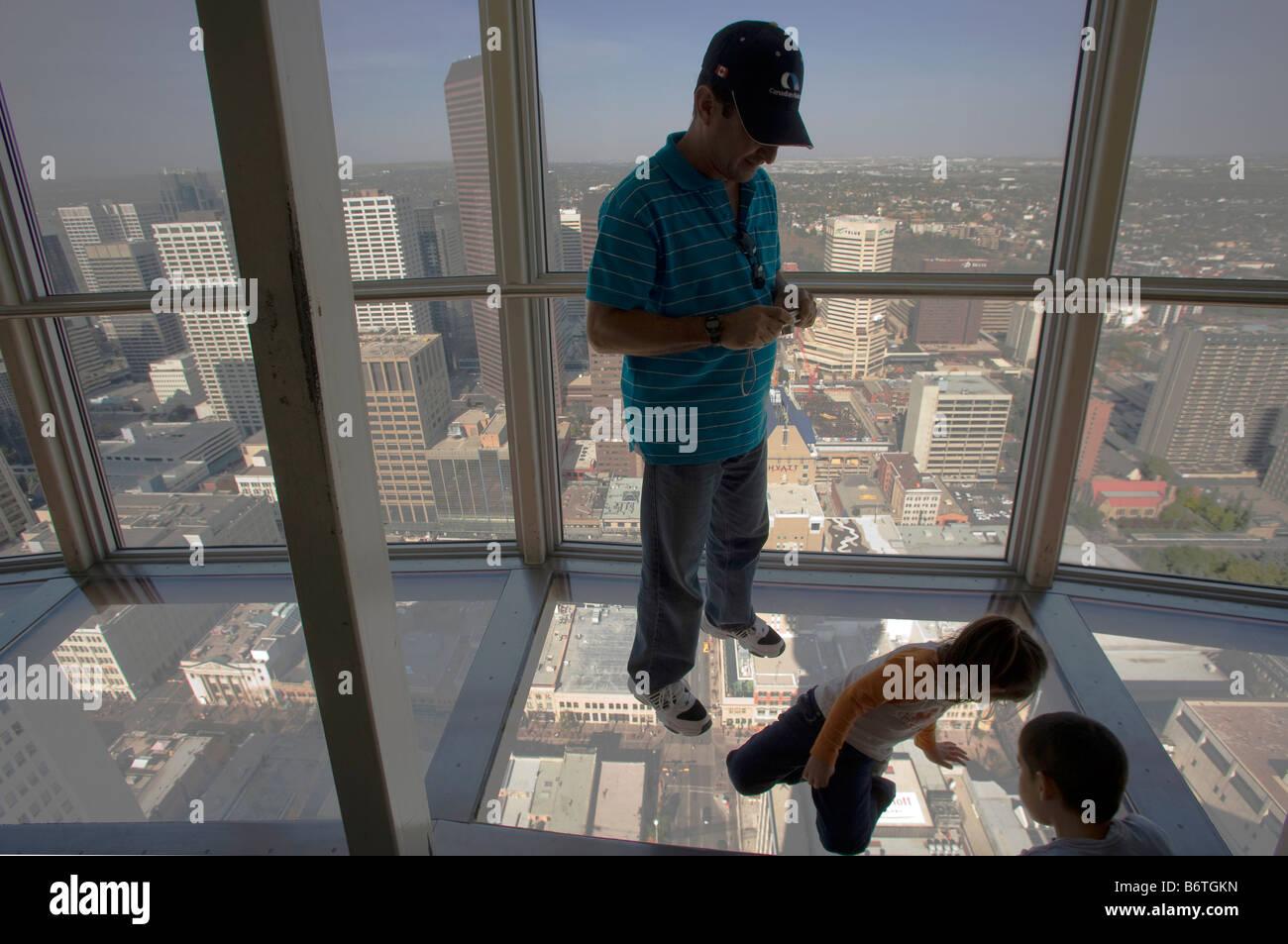 Calgary tower viewing platform - Stock Image
