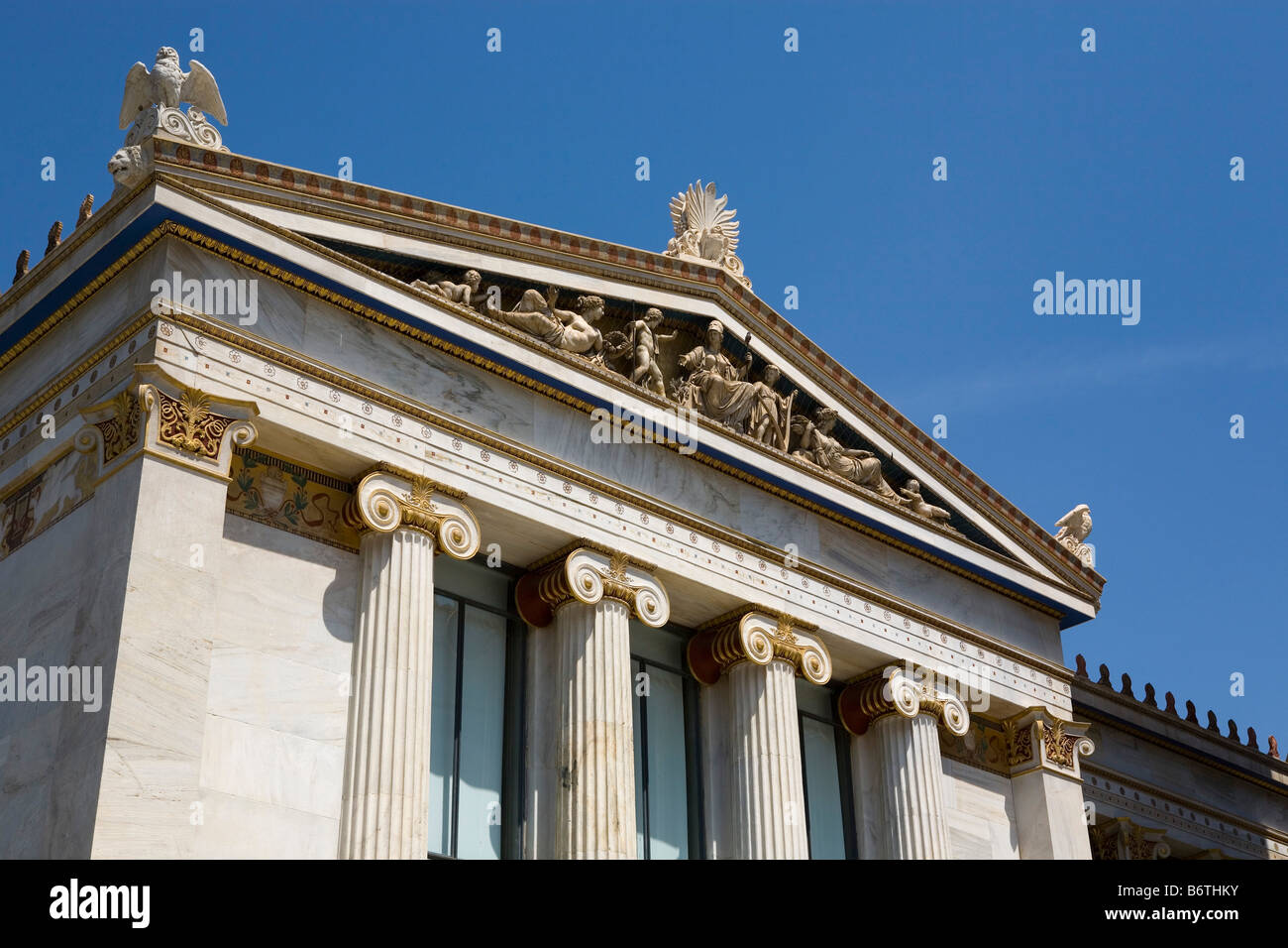 Greece Athens Academy of sciences building - Stock Image