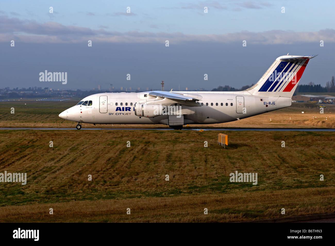 Air France Cityjet Avro RJ85 aircraft at Birmingham International Airport UK - Stock Image