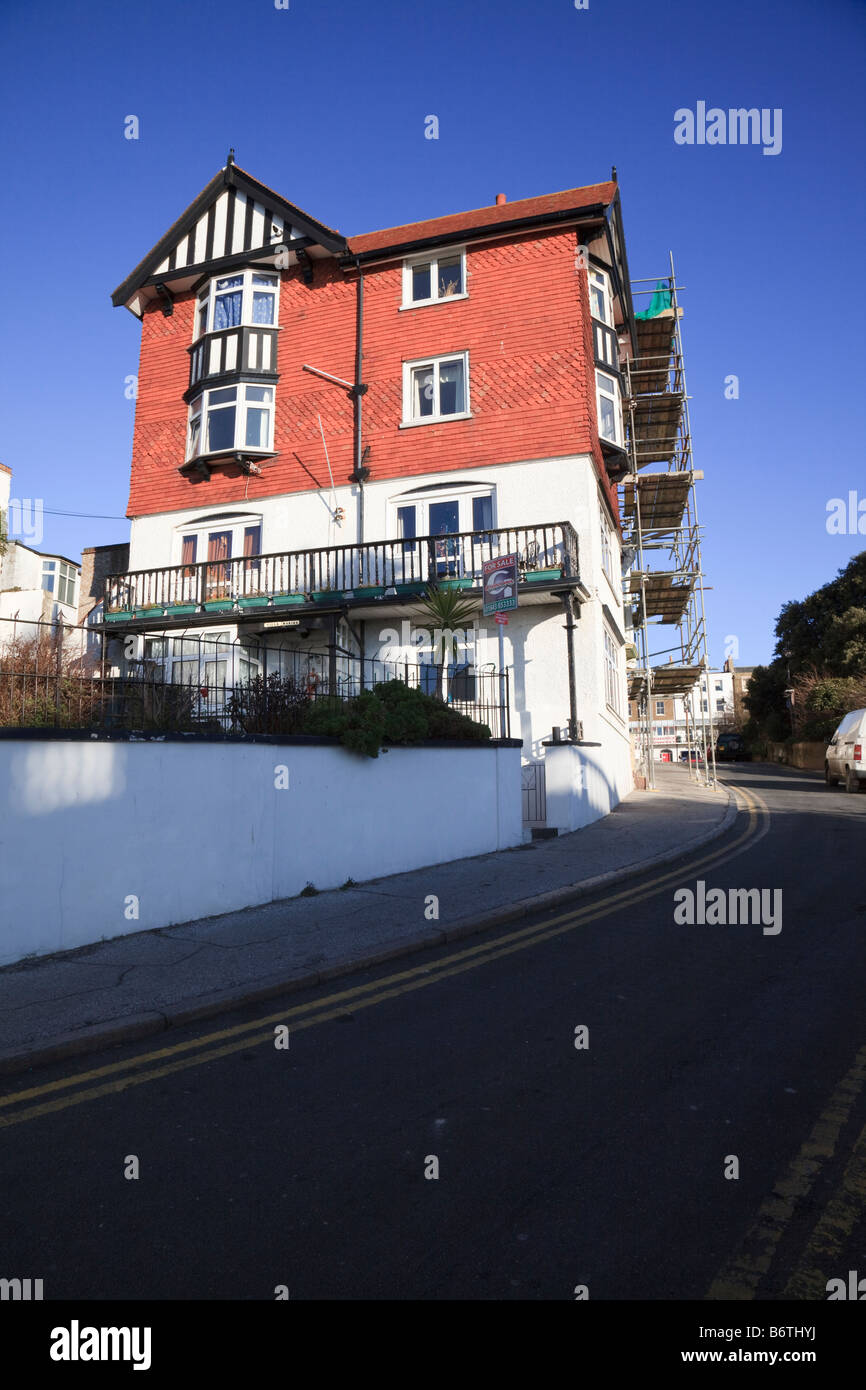 House for Sale on the hill at Albion Place Ramsgate - Stock Image