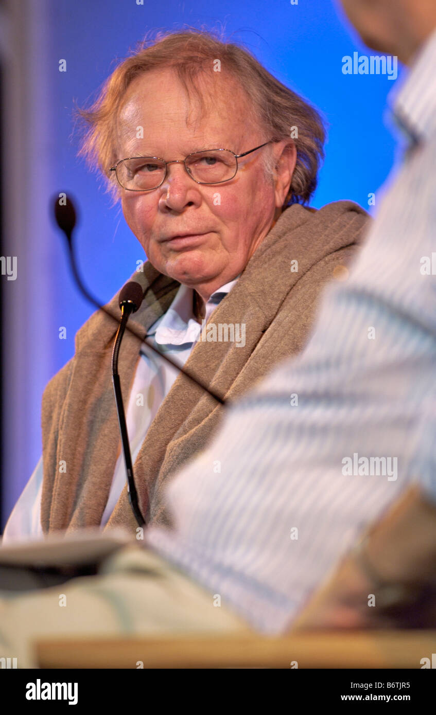 Scientist Wallace Broecker who coined the term global warming in 1975 pictured at Hay Festival 2008 Hay on Wye Powys - Stock Image