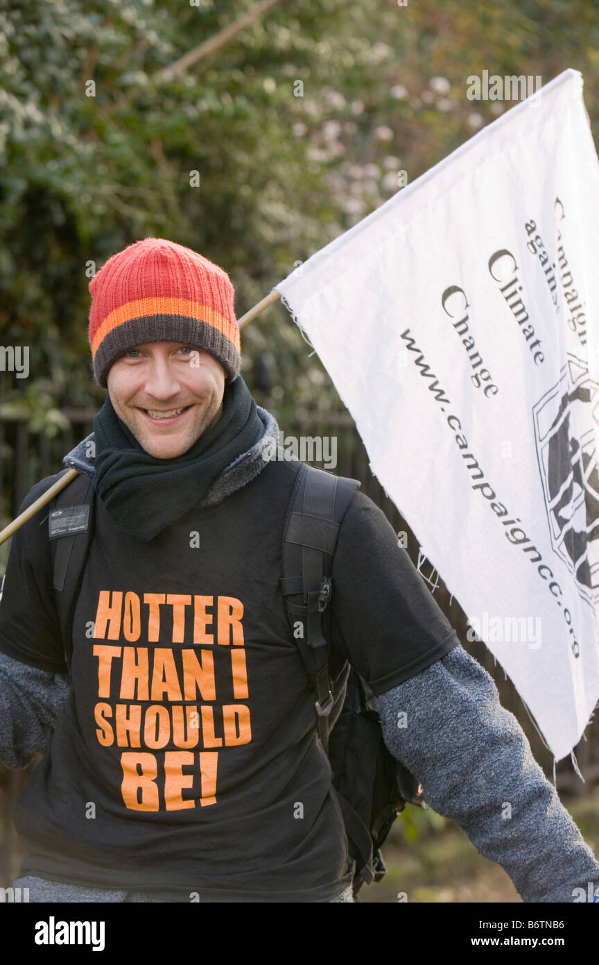 Protestor at a climate change rally in London December 2008 - Stock Image