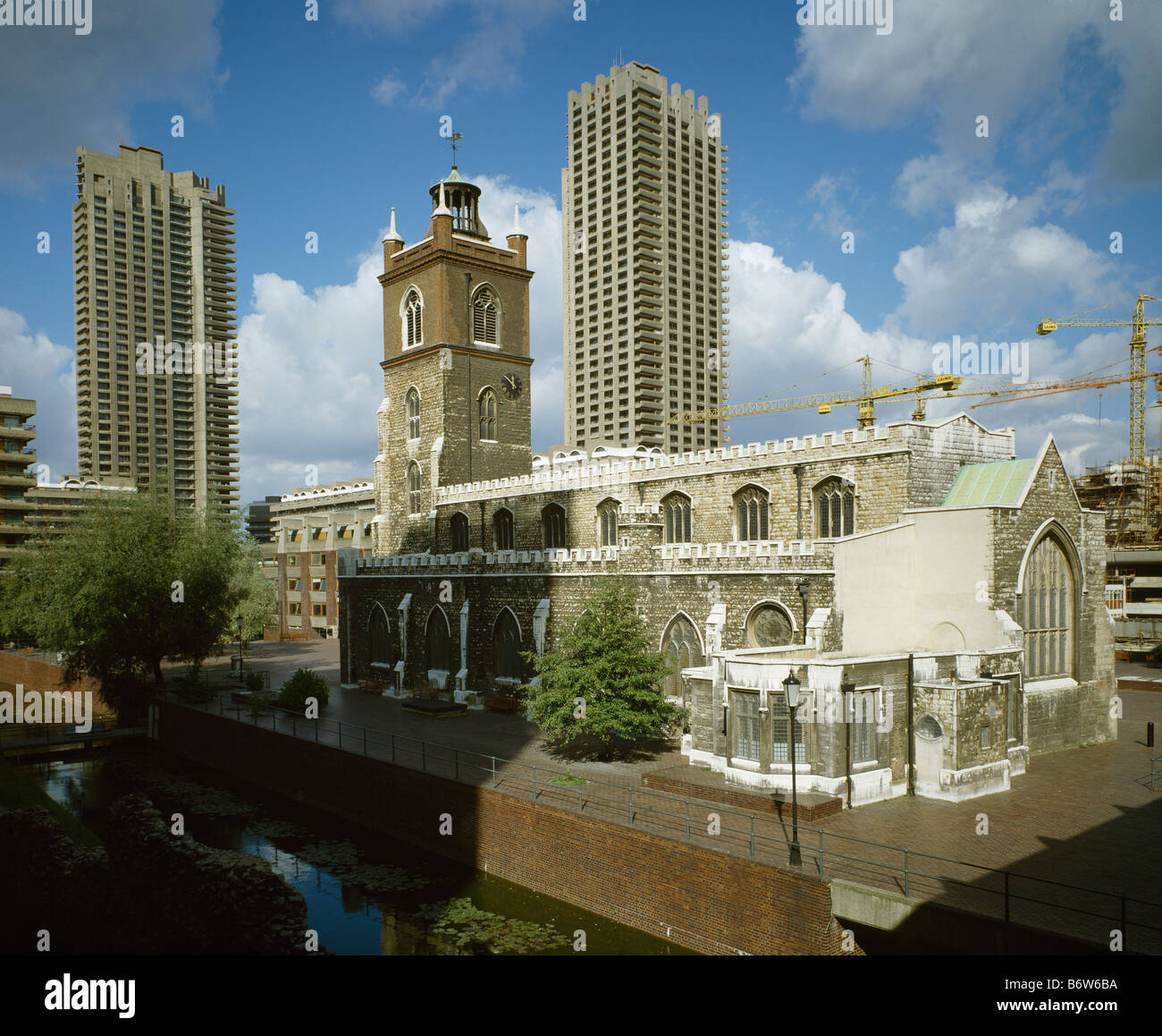 Barbican & St Giles - Stock Image