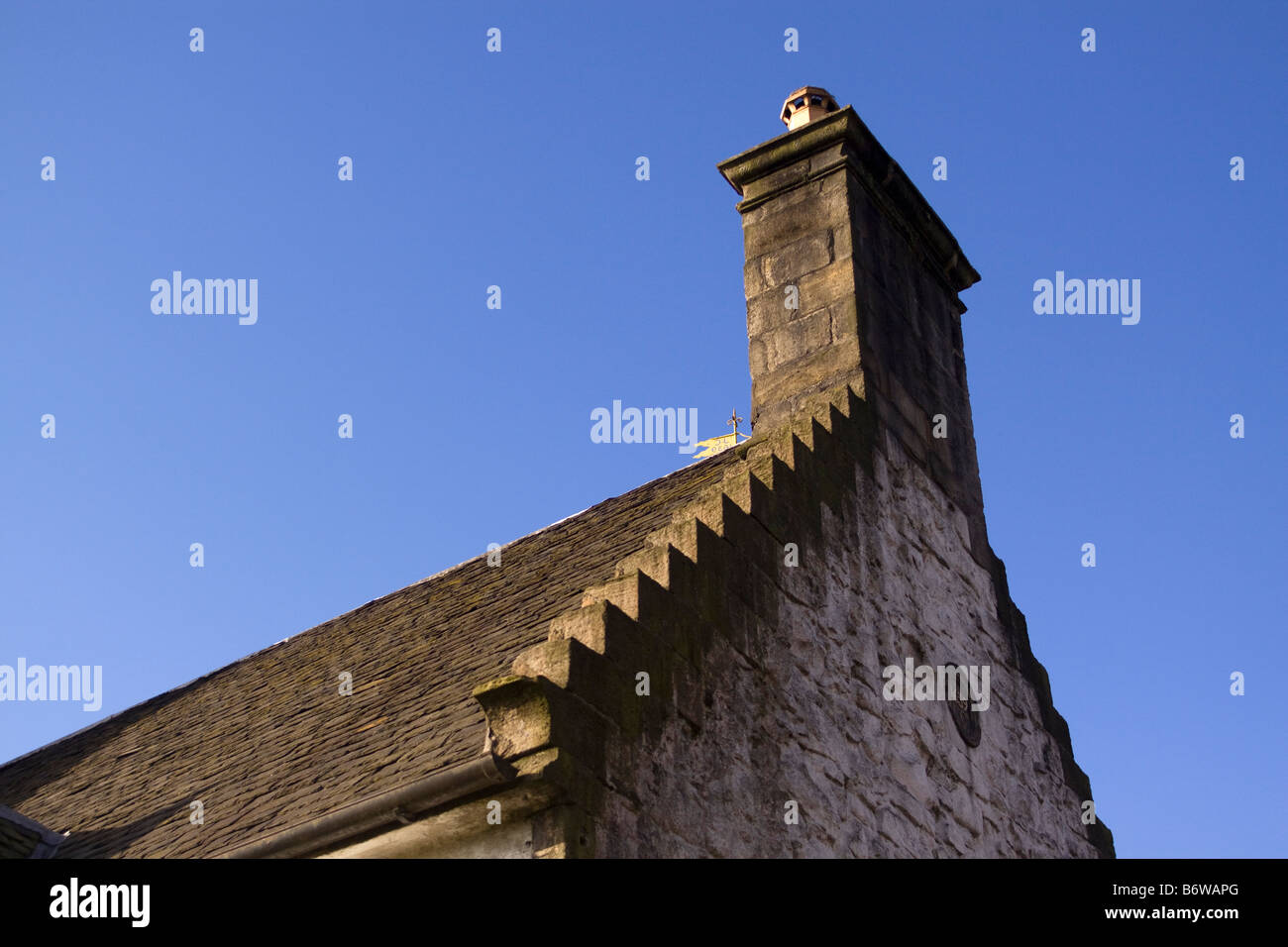 Stepped crows foot stone gable - Stock Image