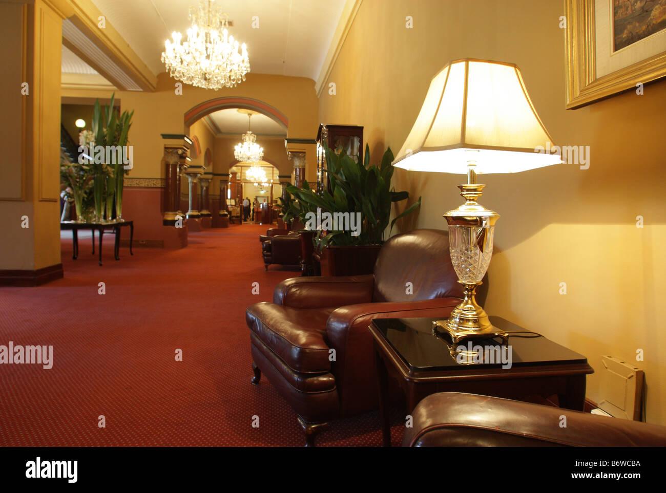The Hotel Windsor,luxury hotel in Melbourne,Victoria,Australia - Stock Image