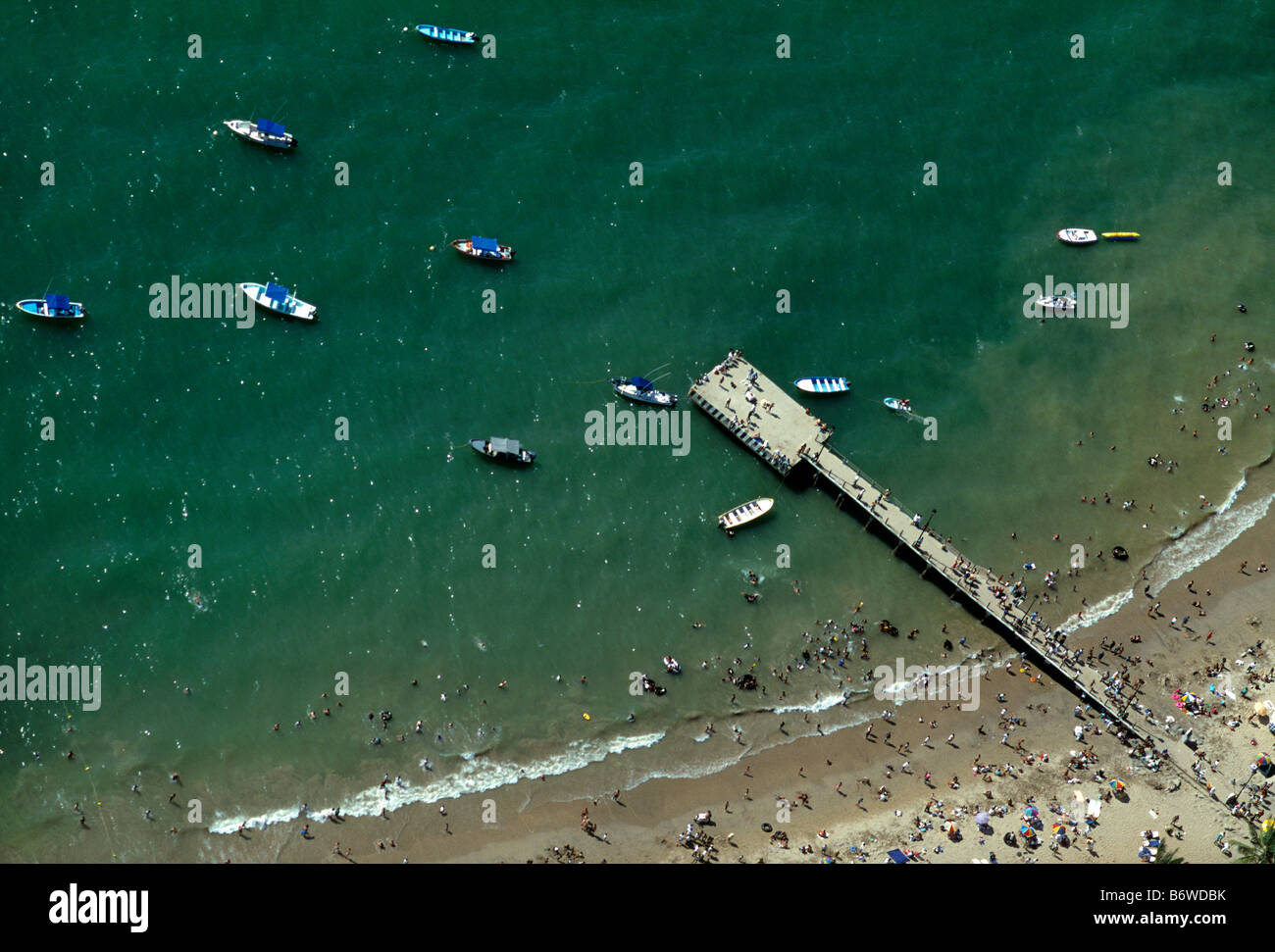 Aerial view of beach at Puerto Vallarta, Guadalupe, Mexico - Stock Image