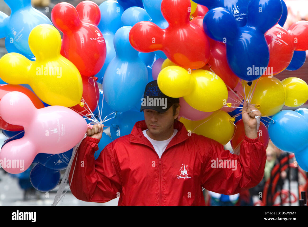Promotional Disney balloons being handed out in Times Square Manhattan New York City New York USA - Stock Image