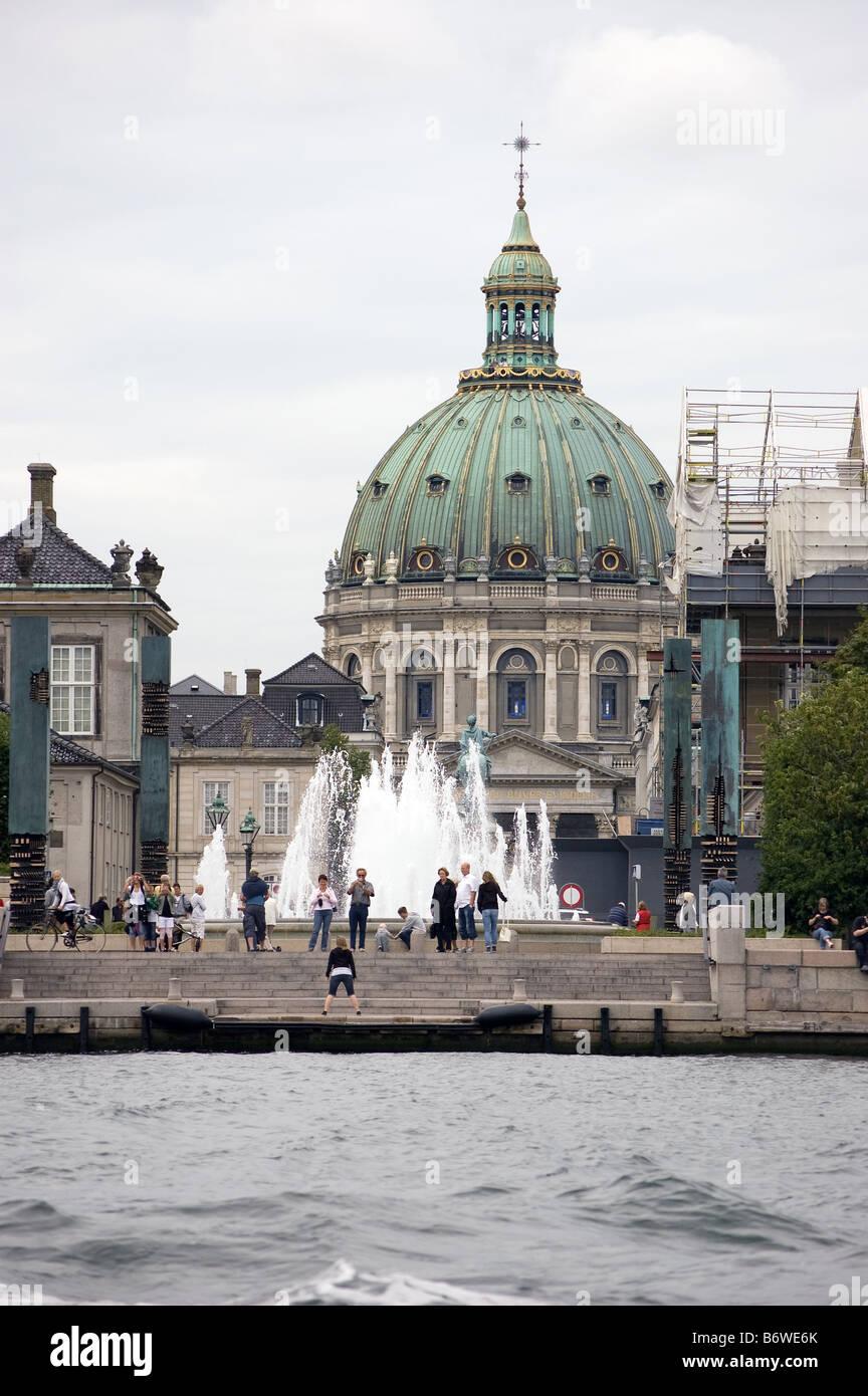 Frederik's Church in Copenhagen - Stock Image